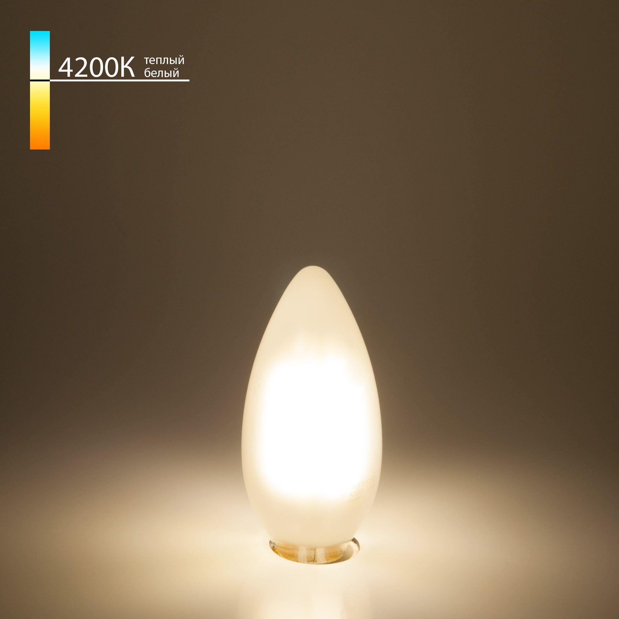 Филаментная светодиодная лампа Свеча