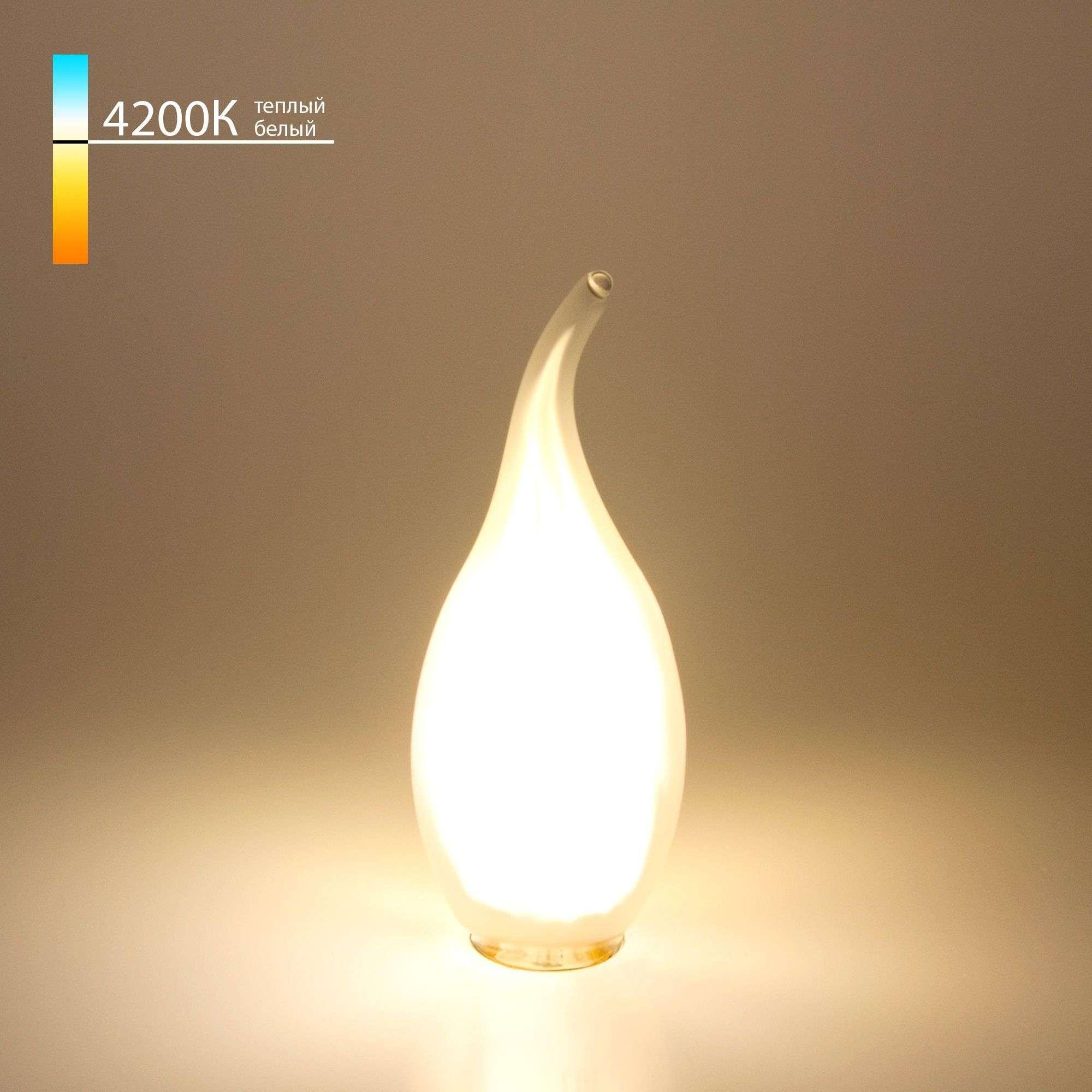 Филаментная светодиодная лампа Свеча на ветру