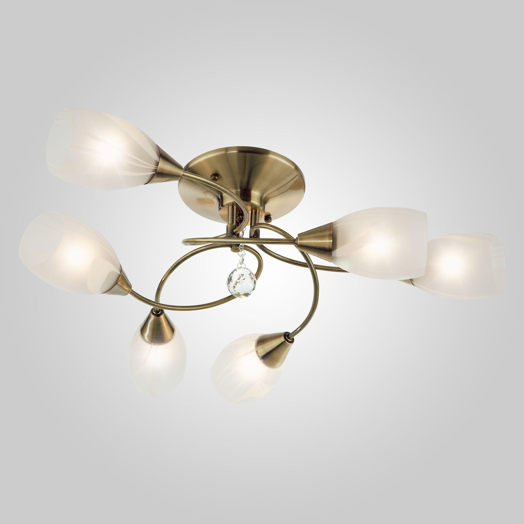 Потолочный светильник с плафонами 2275/6 античная бронза