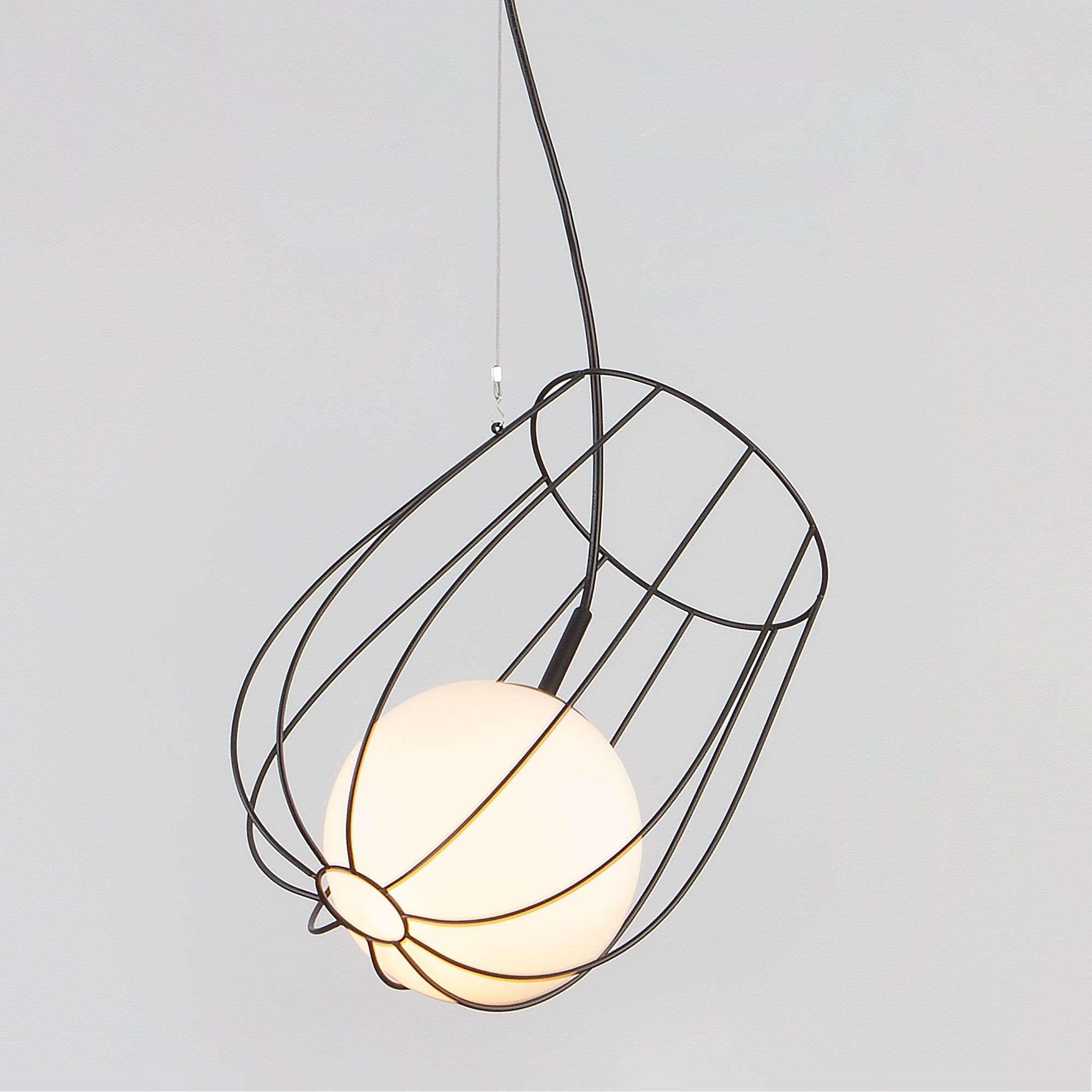 Металлический подвесной светильник лофт 50139/1 черный