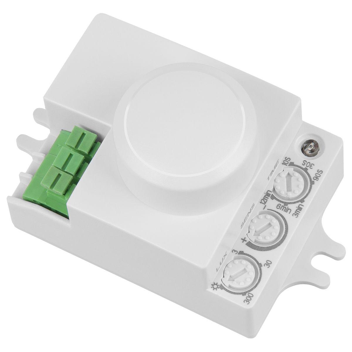 Микроволновый датчик движения 8м 1200W 360 IP20 SNS-M-06