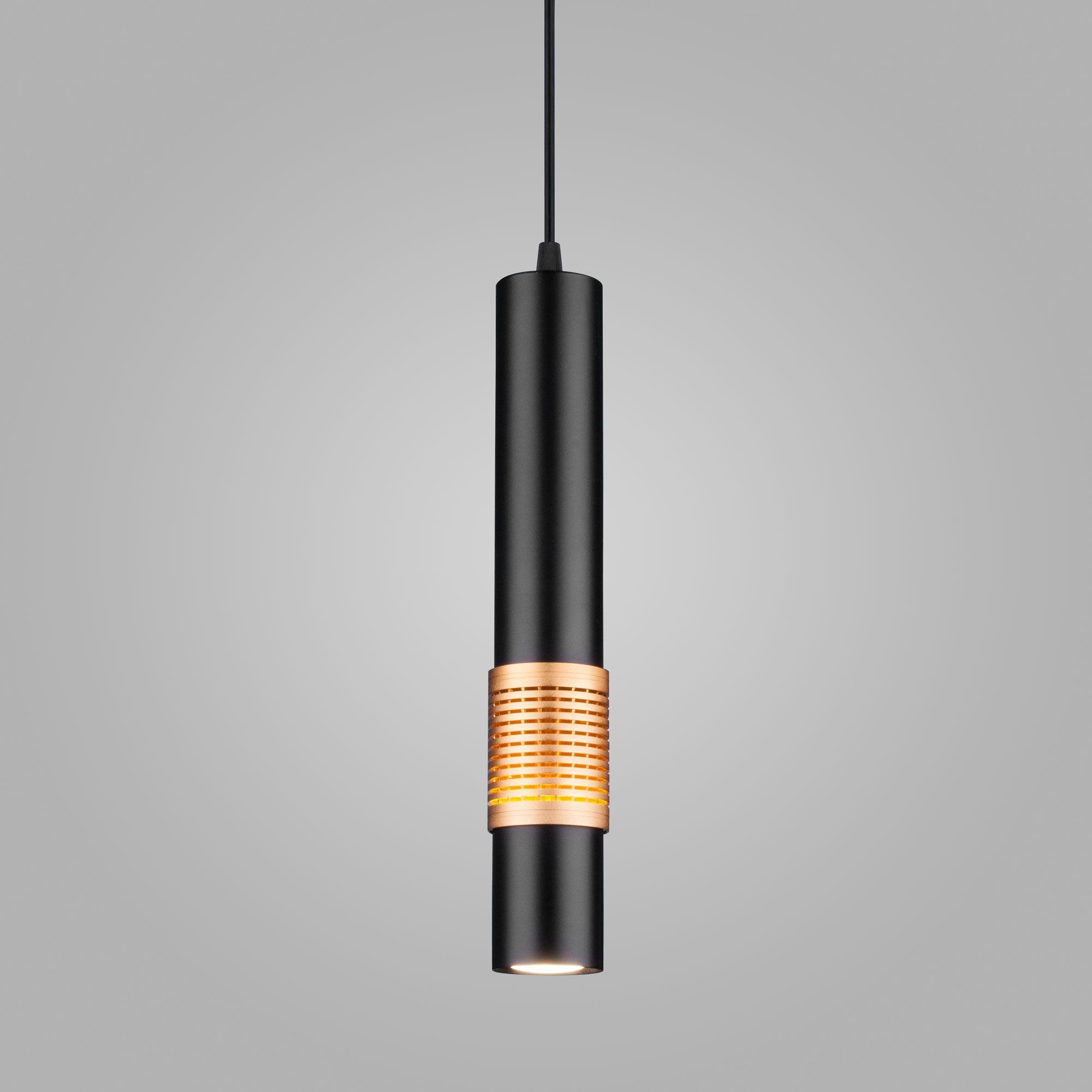 Подвесной потолочный светильник DLN001 MR16 черный матовый/золото