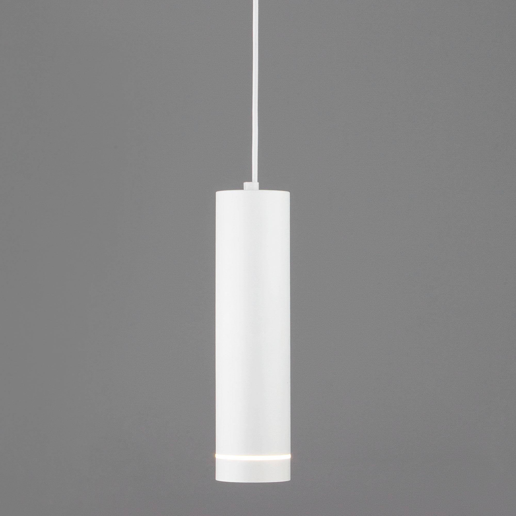 Подвесной светодиодный светильник DLR023 12W 4200K белый матовый