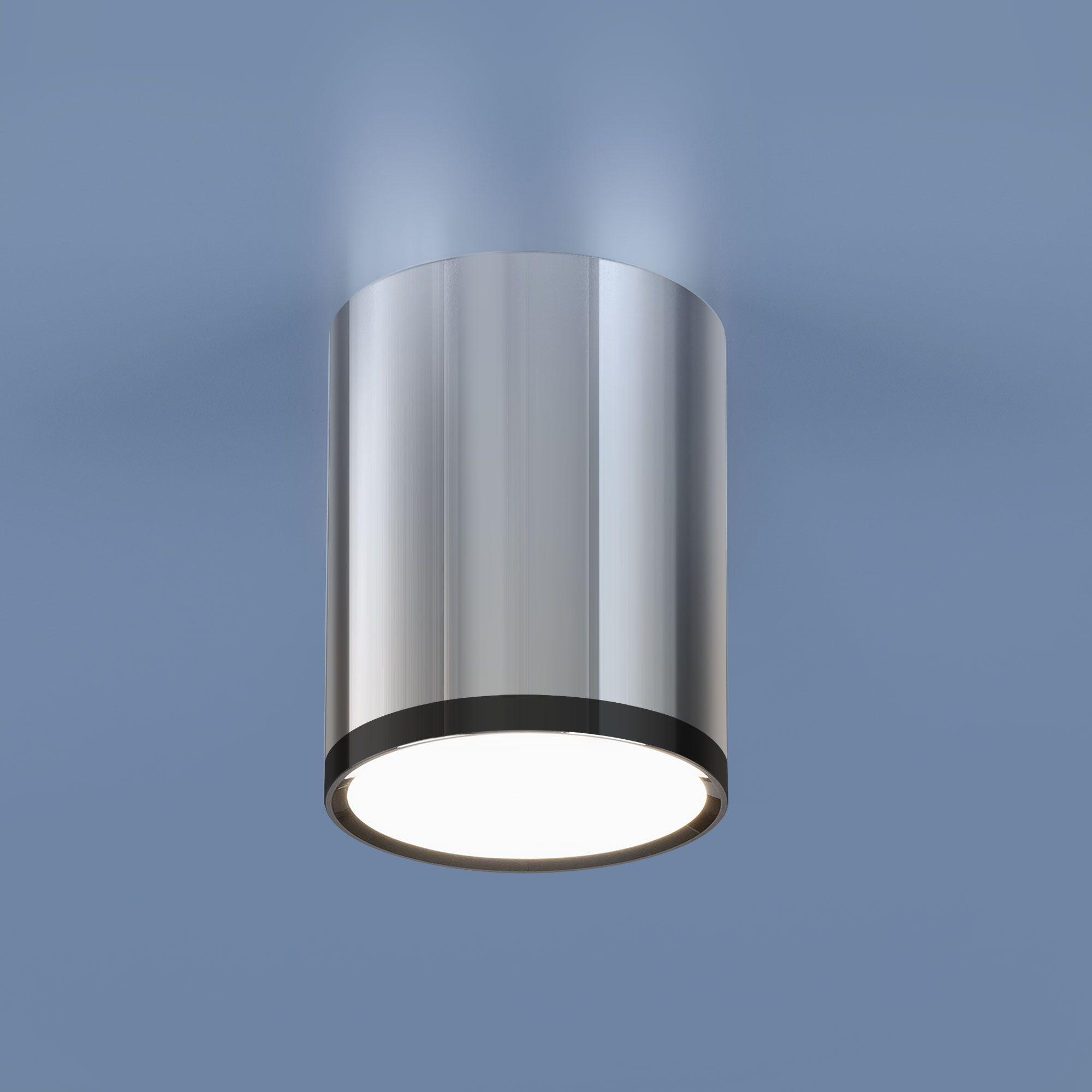 Накладной светодиодный светильник DLR024 6W 4200K хром/черный хром