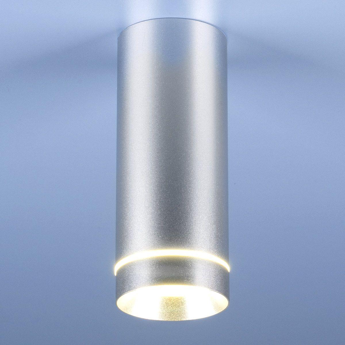 Накладной светодиодный светильник DLR022 12W 4200K хром матовый