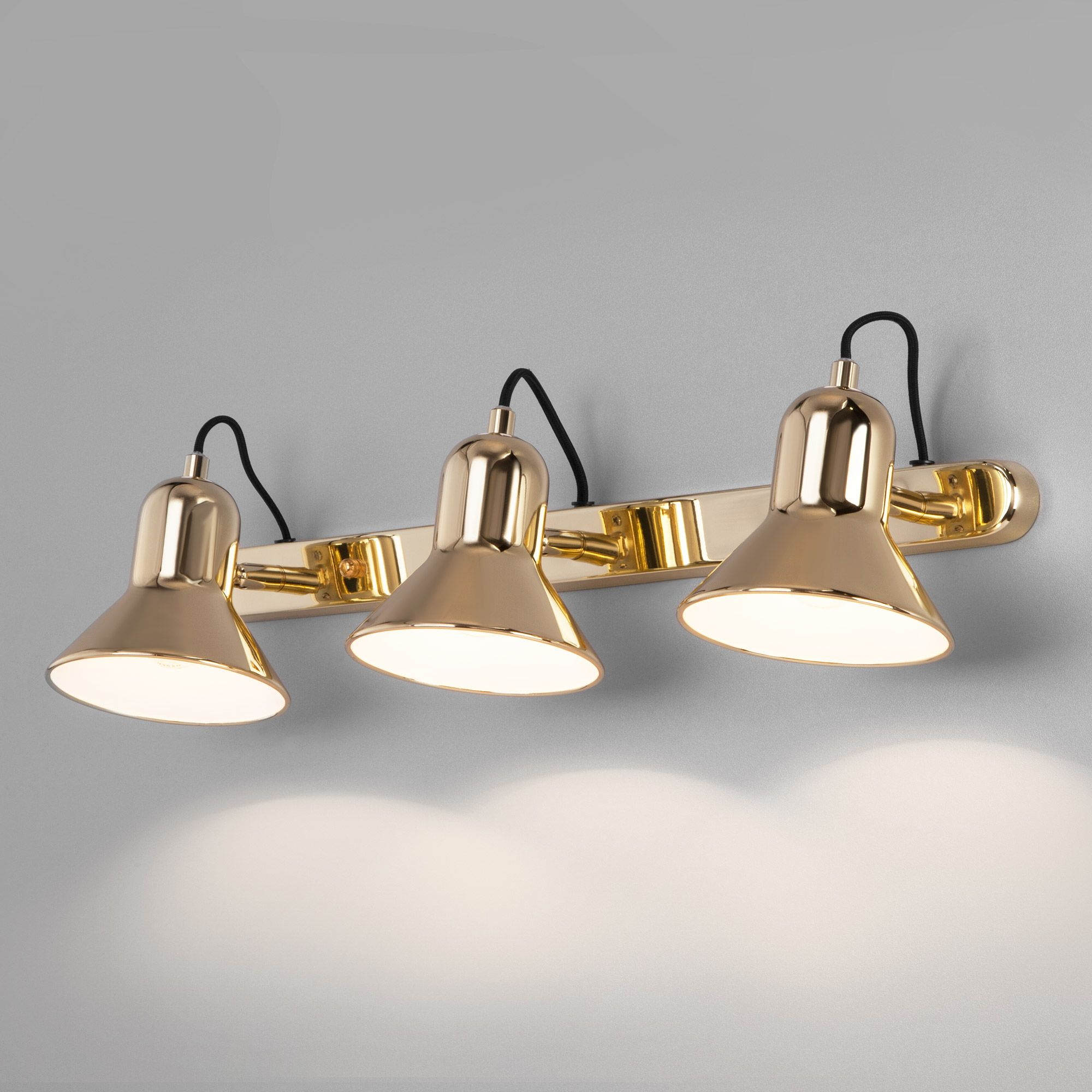 Настенный светильник с поворотными плафонами 20082/3 золото