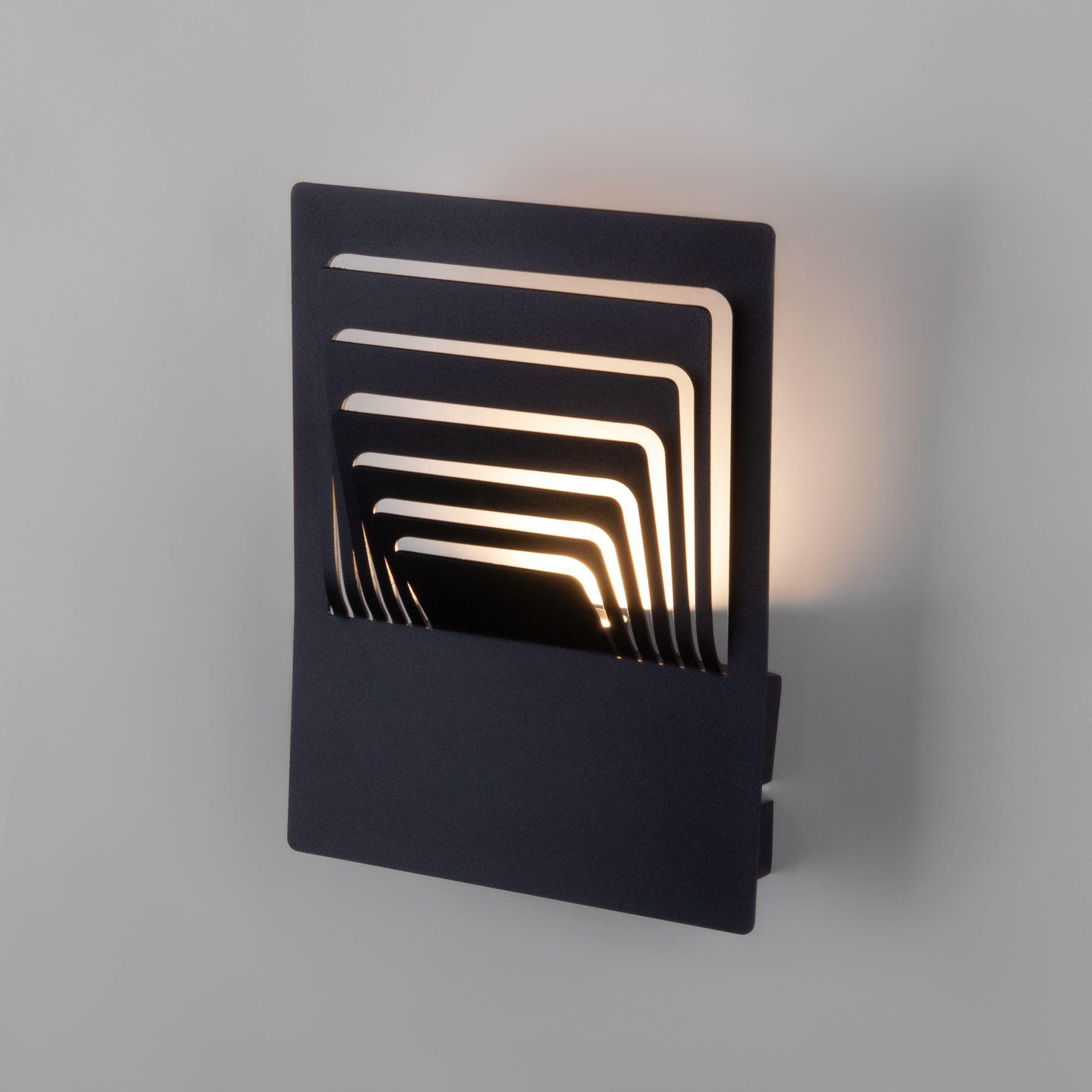 Настенный светодиодный светильник Onda LED чёрный MRL LED 1024