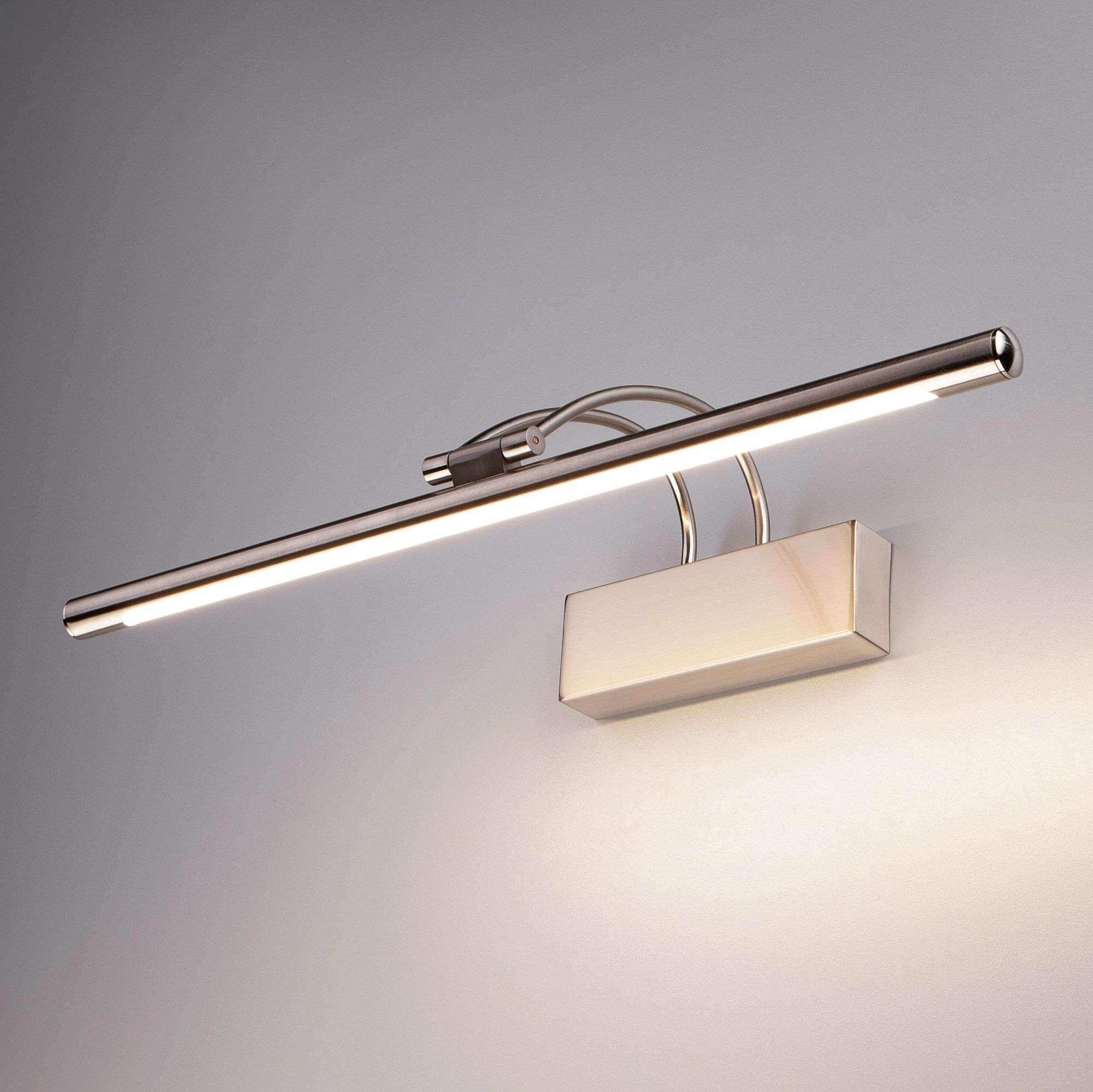 Настенный светодиодный светильник Simple LED никель Simple LED 10W 1011 IP20 никель