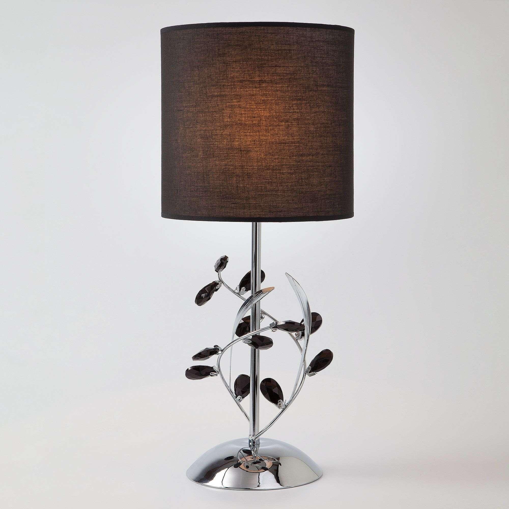 Настольная лампа с абажуром 01017/1 хром