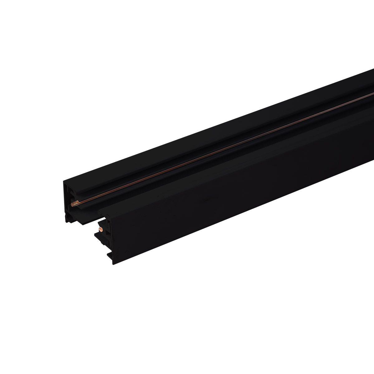 Однофазный шинопровод  2 метра черный (с вводом питания и заглушкой) TRL-1-1-200-BK