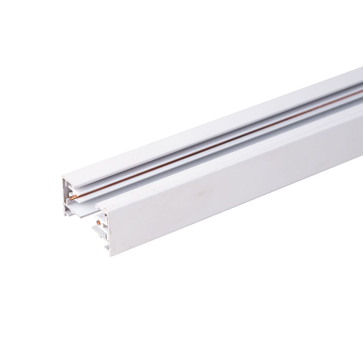 Однофазный шинопровод 2 метра белый (с вводом питания и заглушкой) TRL-1-1-200-WH