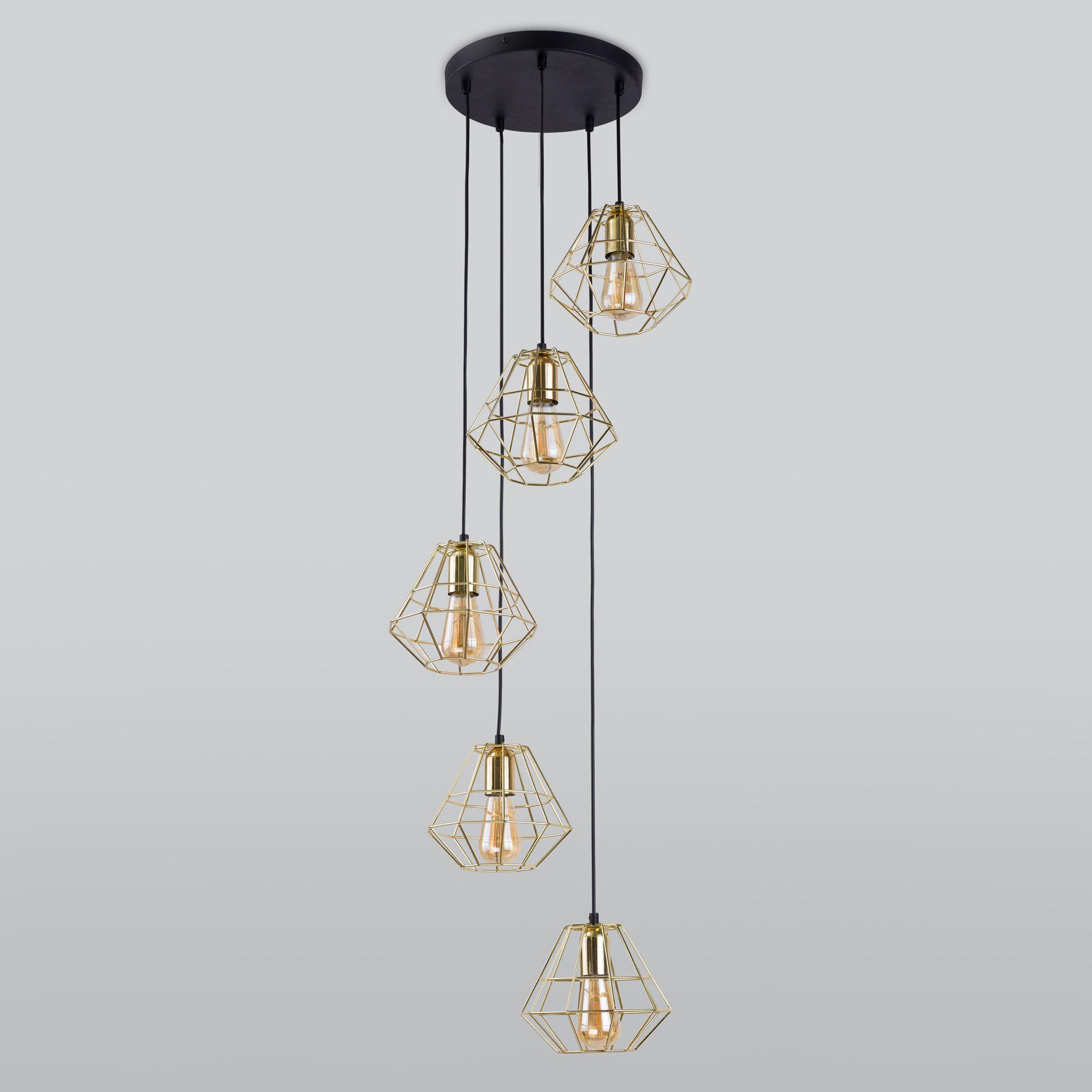 Подвесной светильник 2576 Diamond Gold