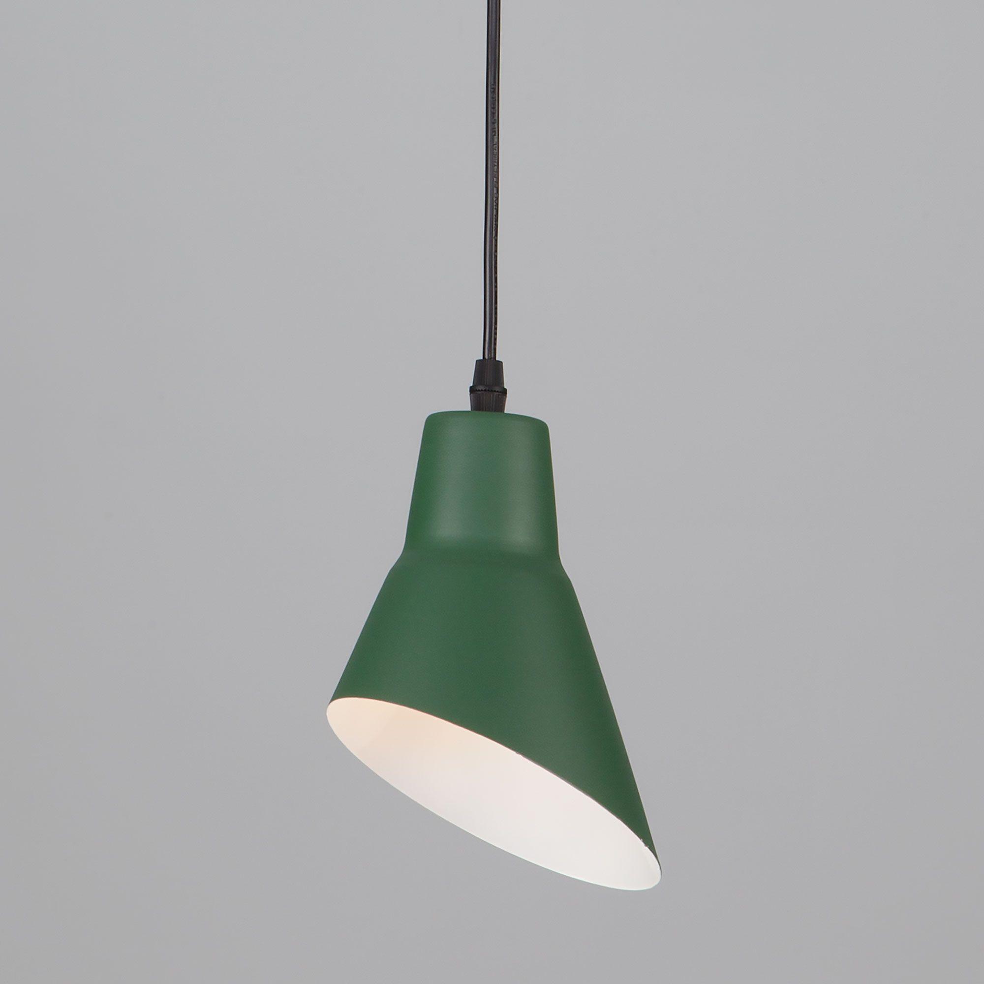 Подвесной светильник из металла 50069/1 зеленый
