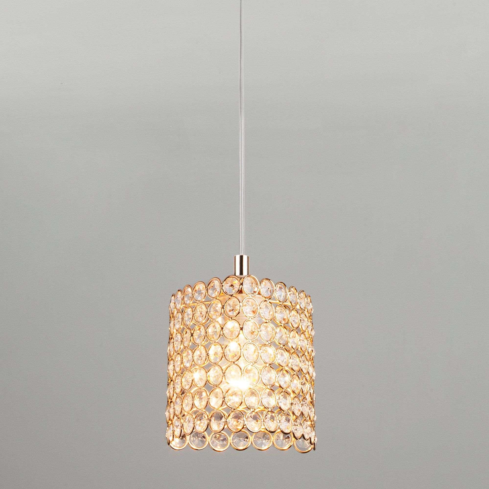 Подвесной светильник с хрусталем 50068/1 золото