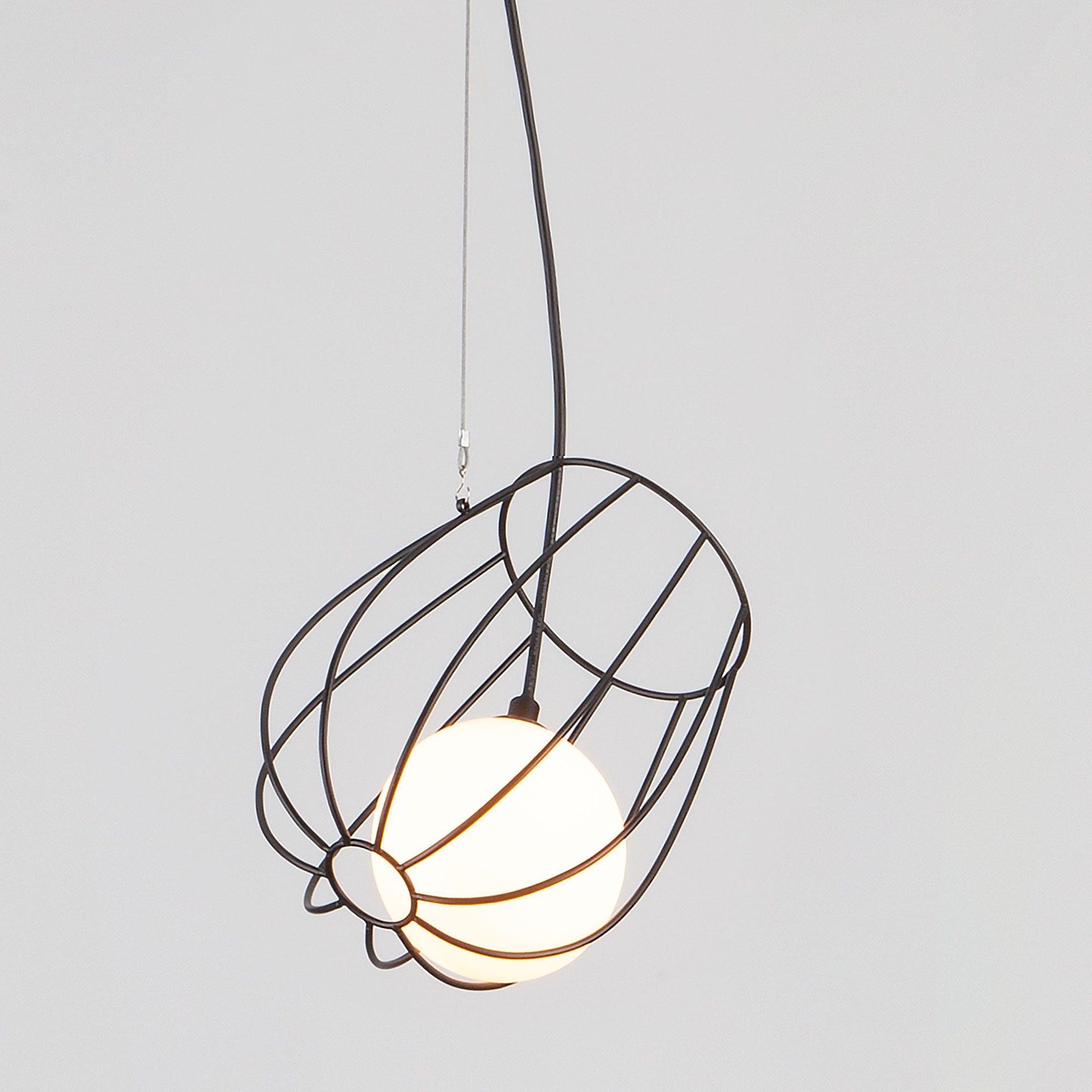 Подвесной светильник с металлическим плафоном 50138/1 черный