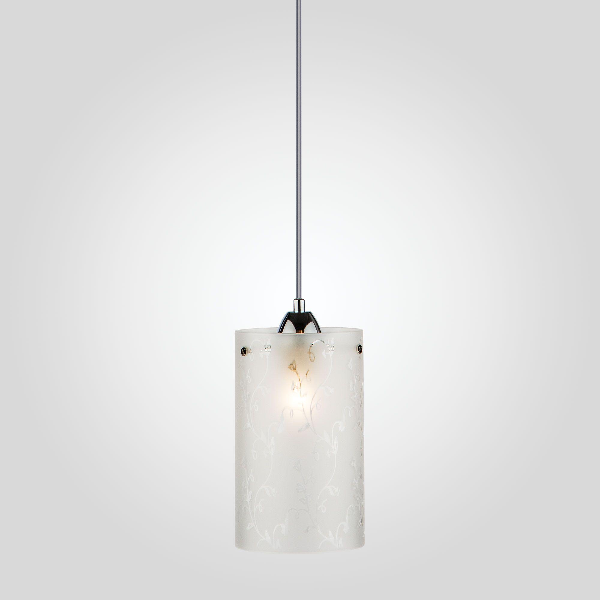 Подвесной светильник с плафоном 1129/1 хром