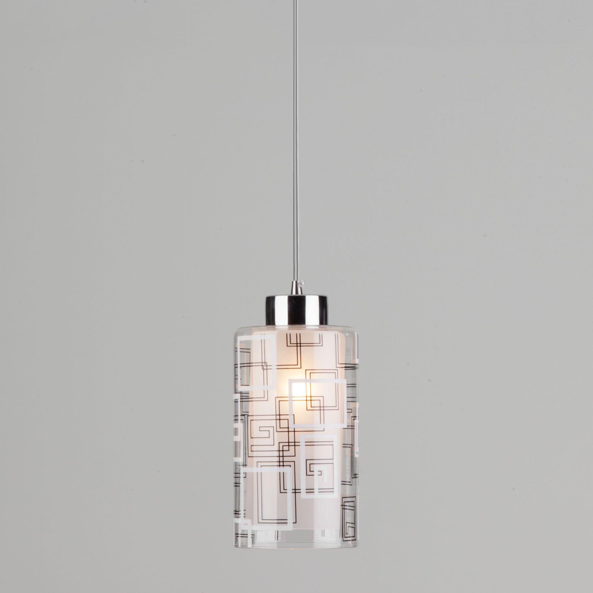 Подвесной светильник с плафоном 50002/1 хром