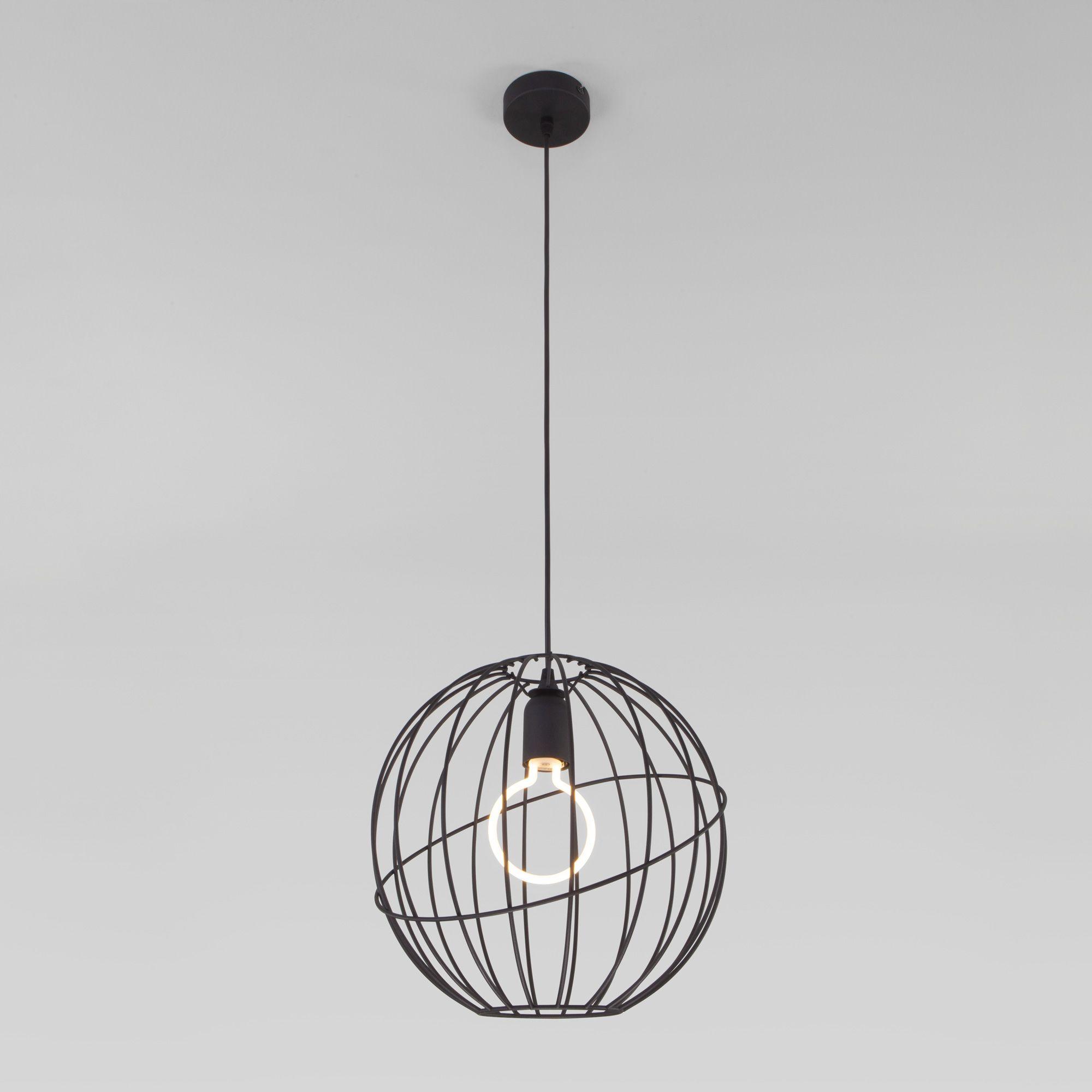 Подвесной светильник с плафоном в стиле лофт 1626 Orbita Black