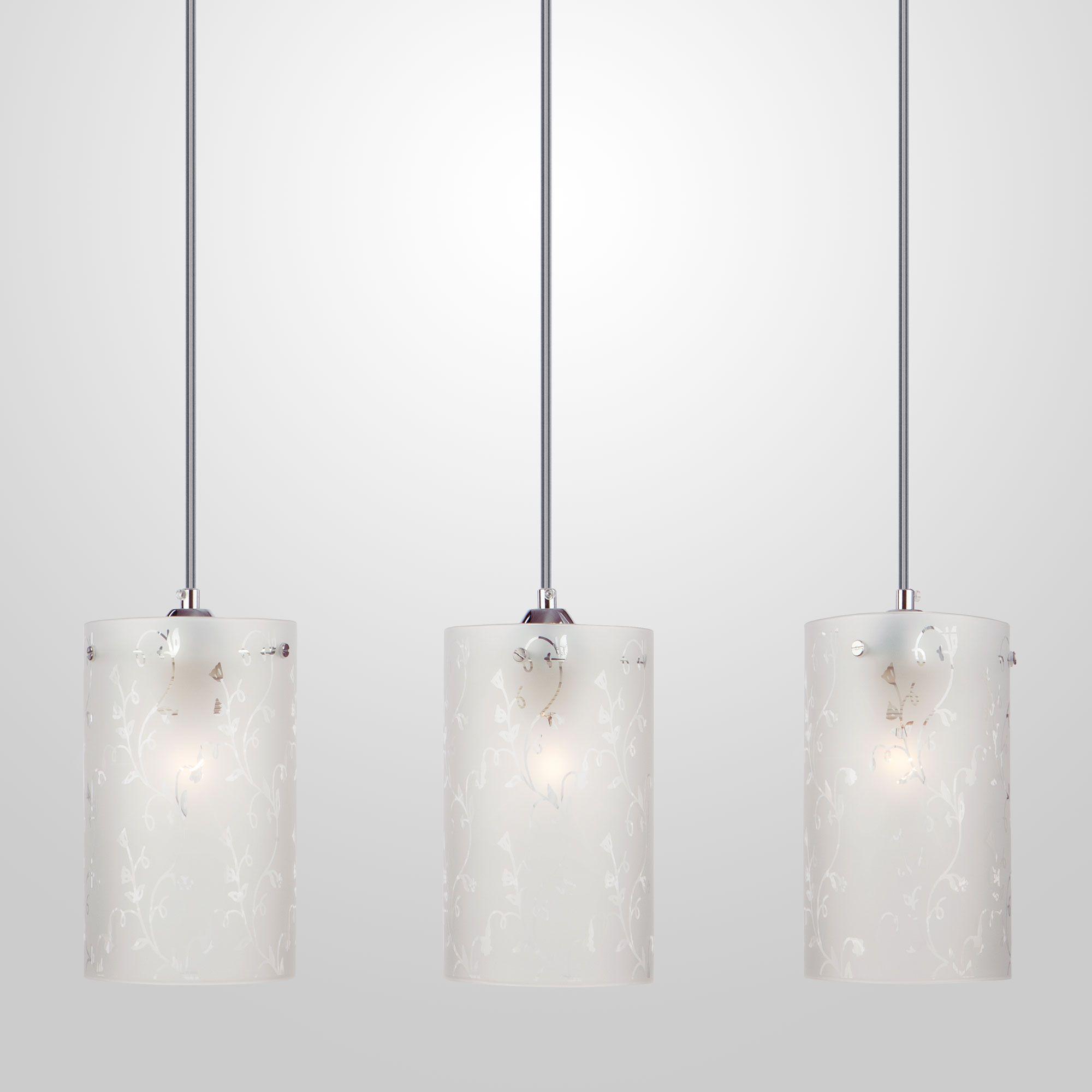 Подвесной светильник с тремя плафонами 1129/3 хром