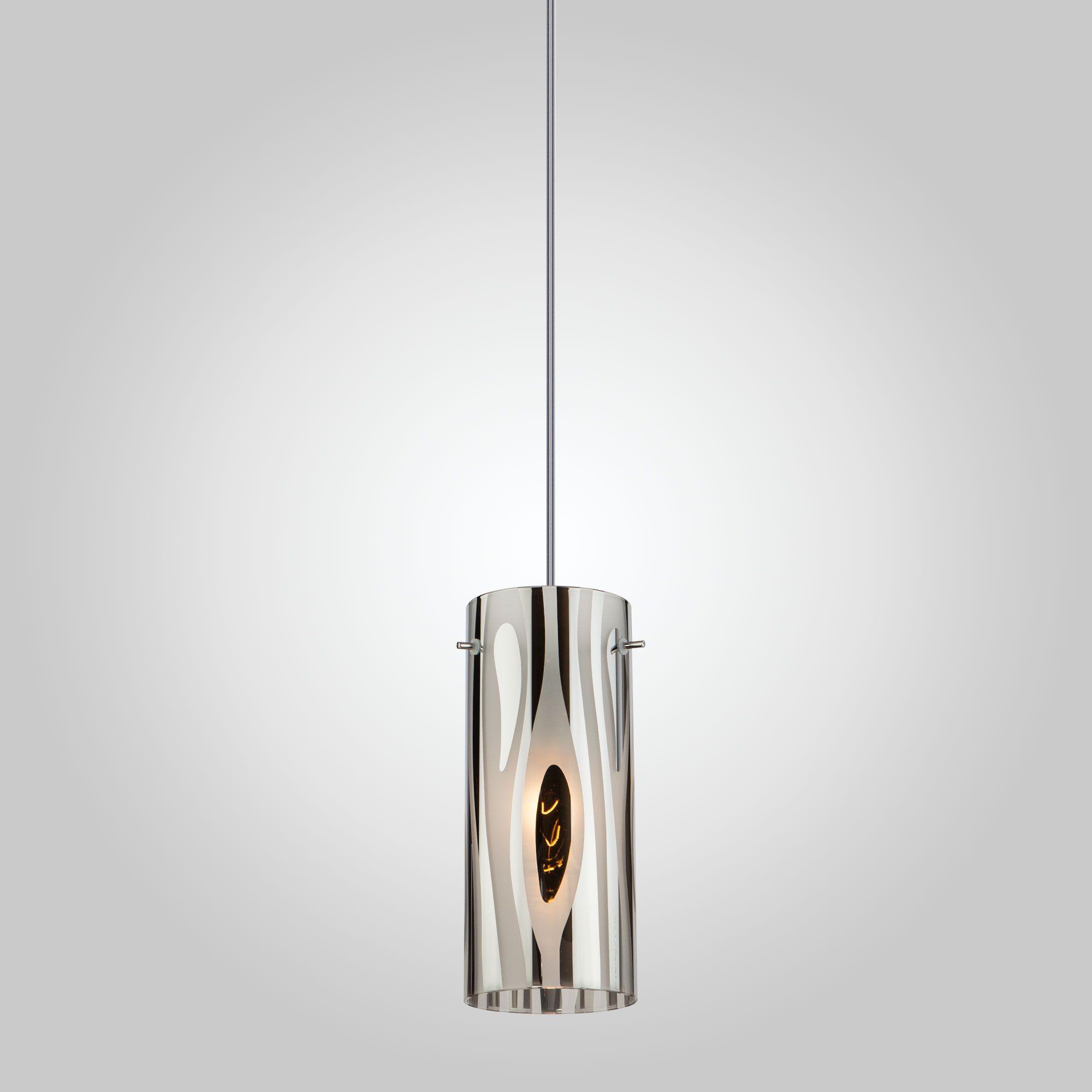 Подвесной светильник со стеклянным плафоном 1575/1 хром