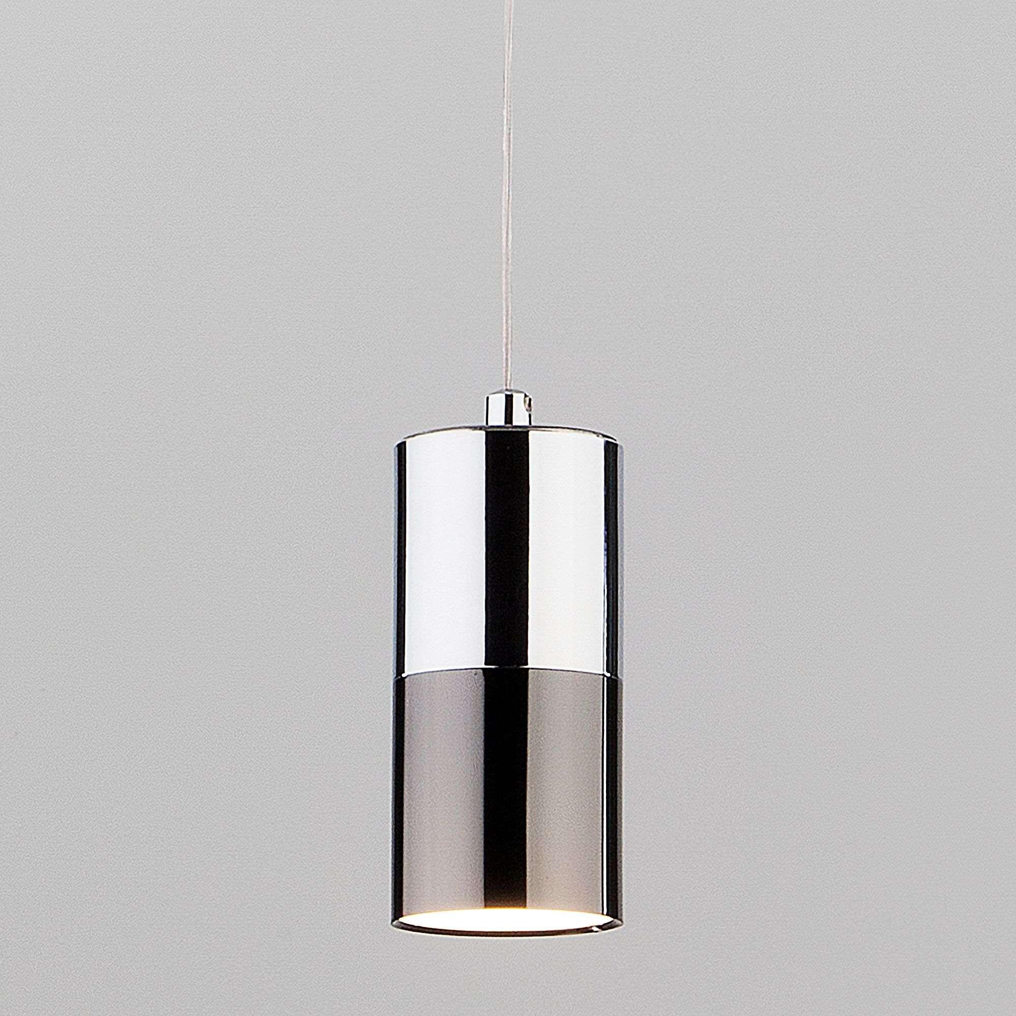 Подвесной светильник в стиле лофт 50146/1 хром/черный жемчуг