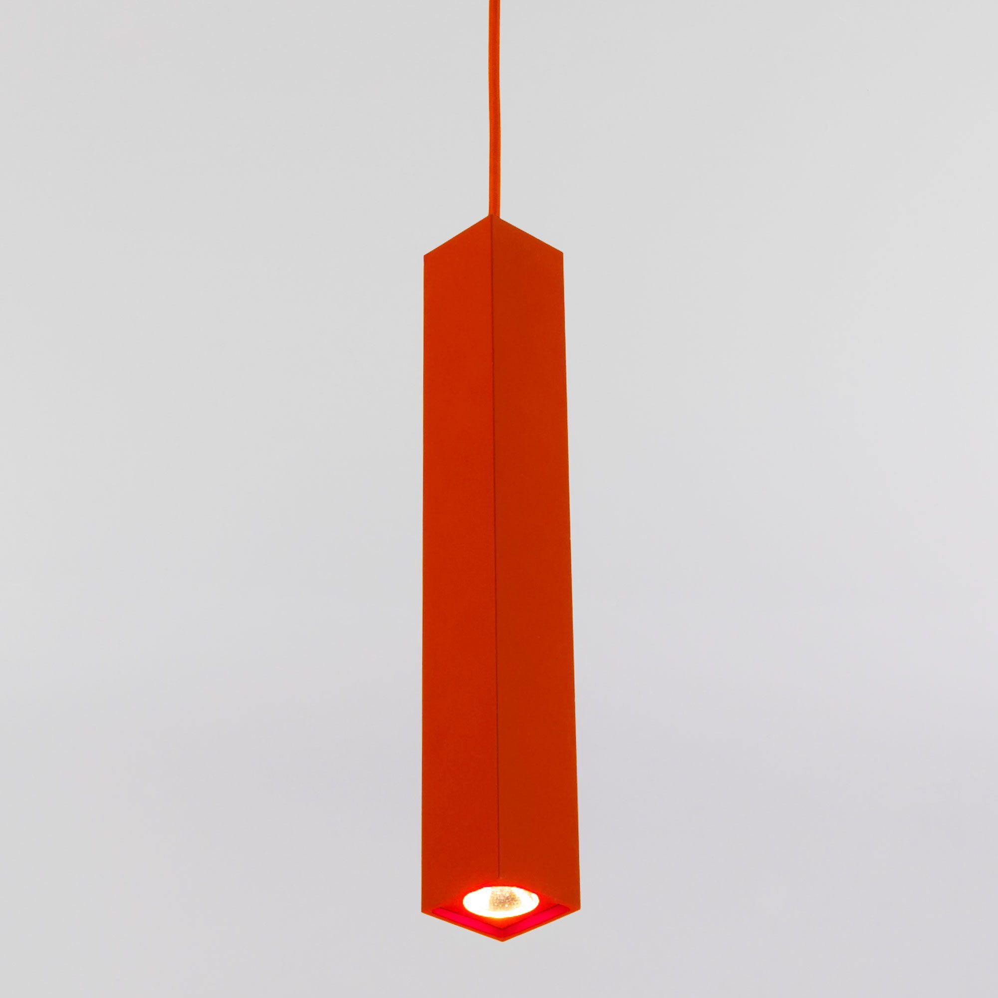 Подвесной светодиодный светильник 50154/1 LED красный