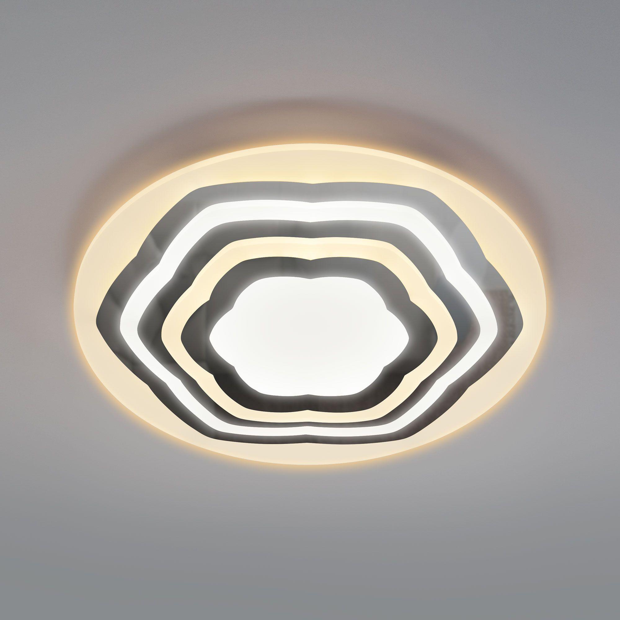 Потолочный светодиодный светильник с пультом 90117/4 хром