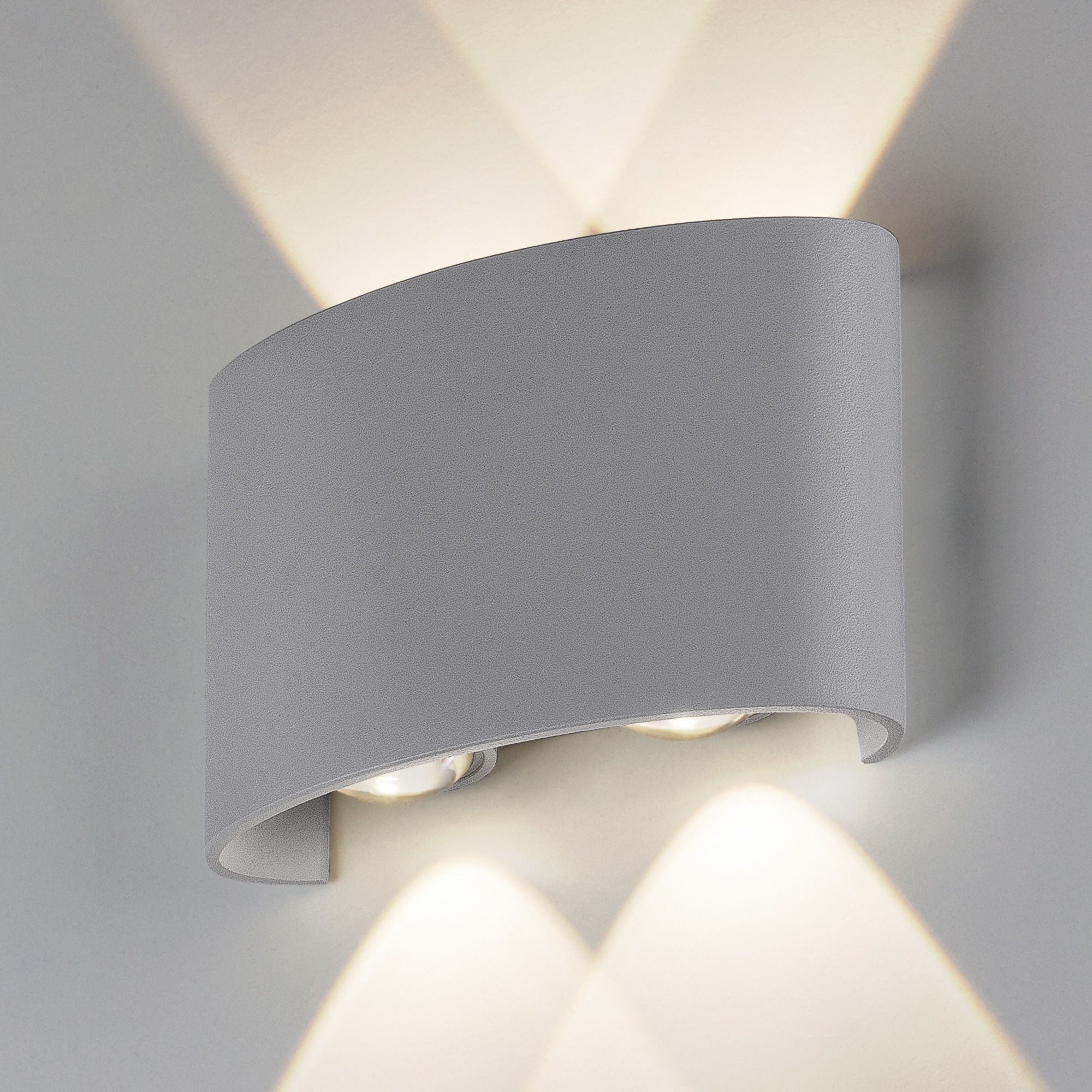 Пылевлагозащи<wbr>щенный светодиодный светильник Twinky Double серый IP54 1555 Techno LED серый