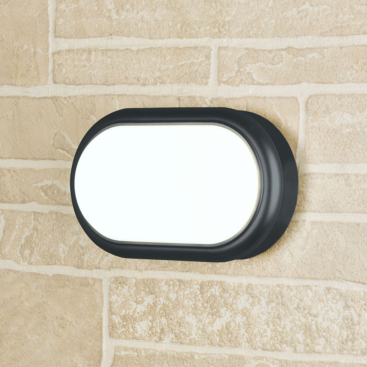 Пылевлагозащи<wbr>щенный светодиодный светильник Forssa черный 18 Вт 4000 K IP54 LTB05 черный