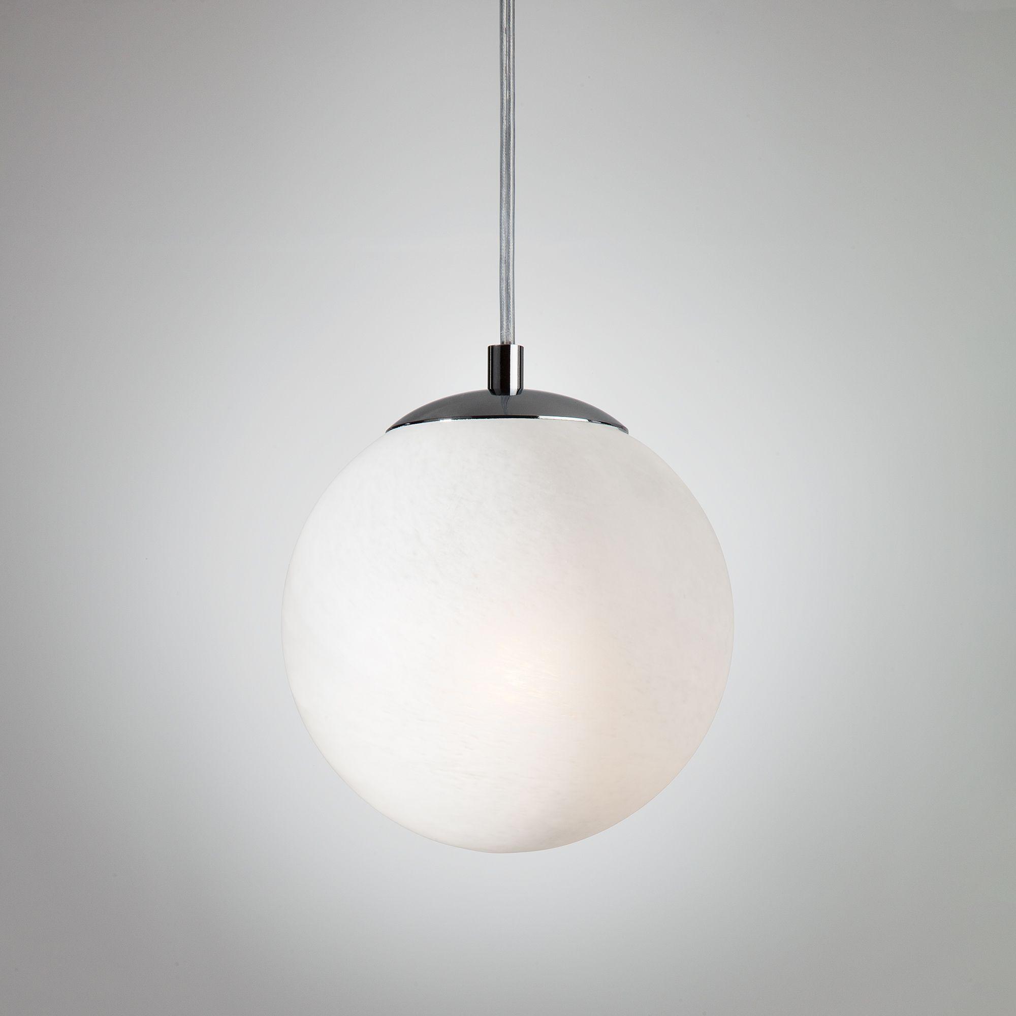 Светильник лофт с круглым плафоном 70069/1 хром/черный