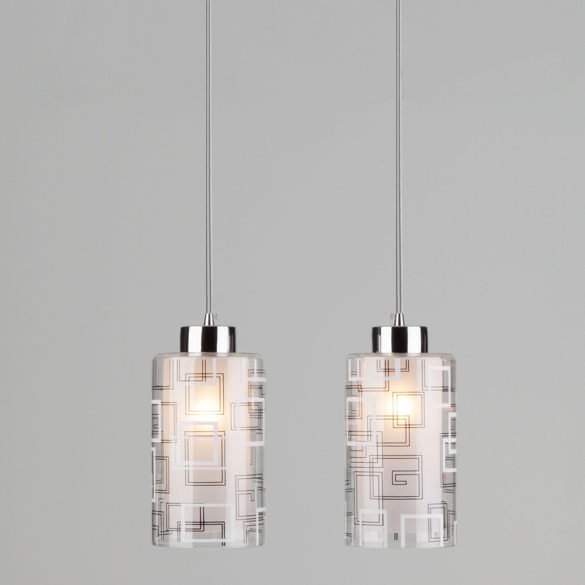 Светильник подвесной с двумя плафонами 50002/2 хром