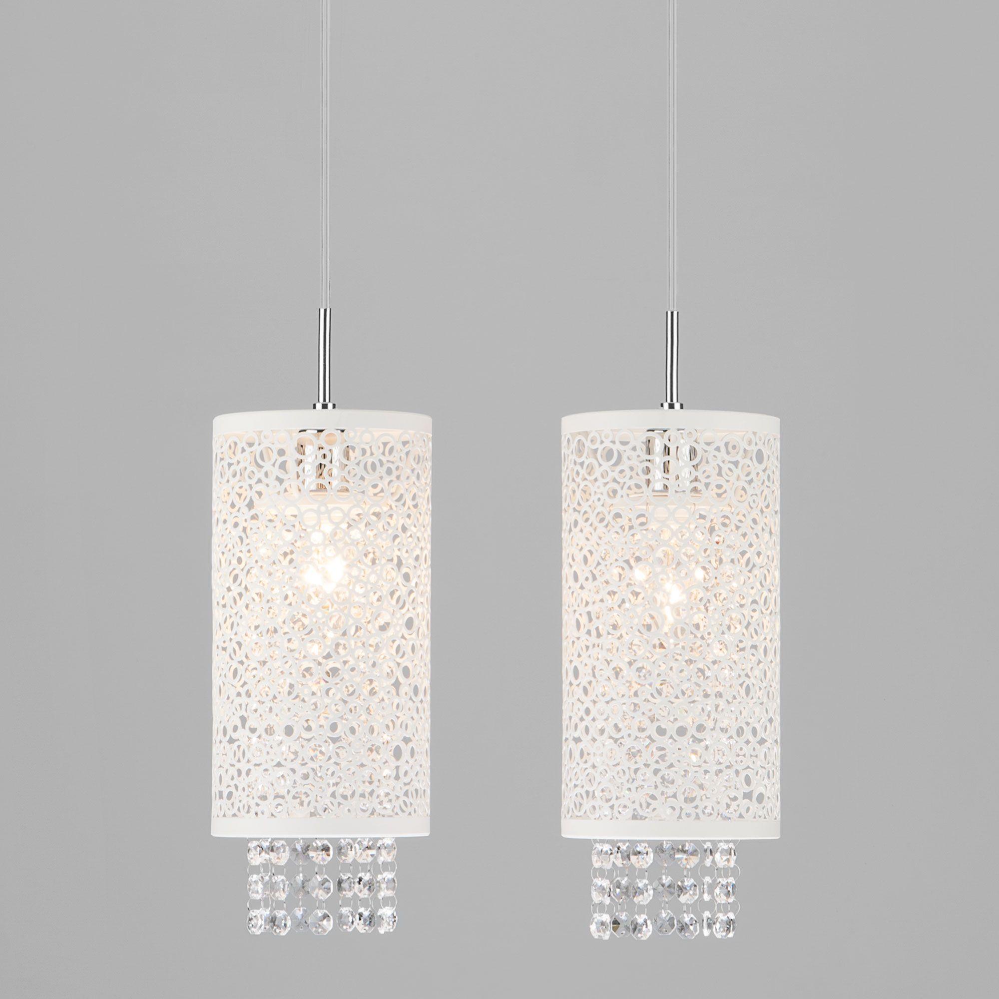 Светильник подвесной с хрусталем 1181/2 хром
