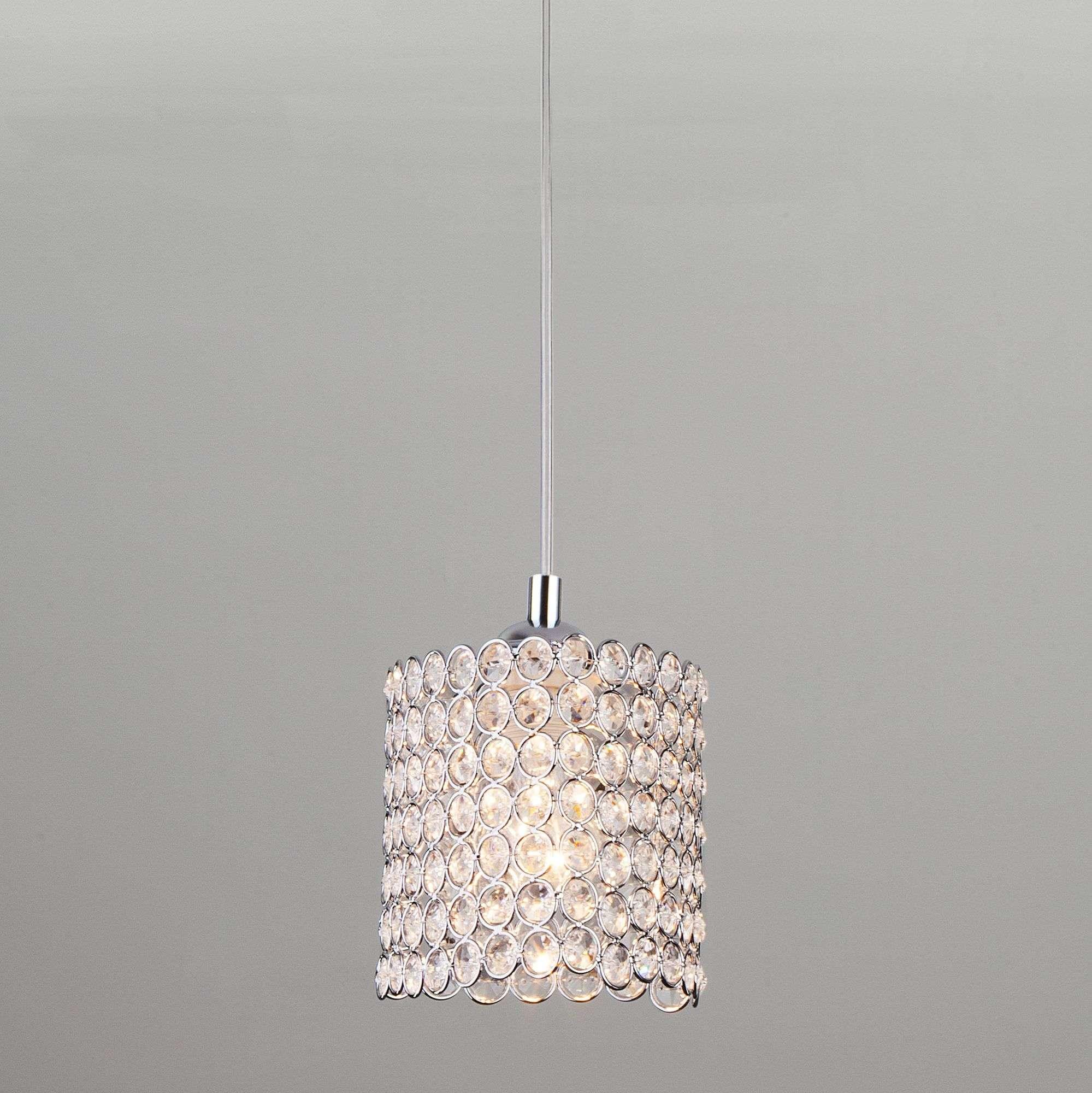 Светильник подвесной с хрустальным декором 50068/1 хром