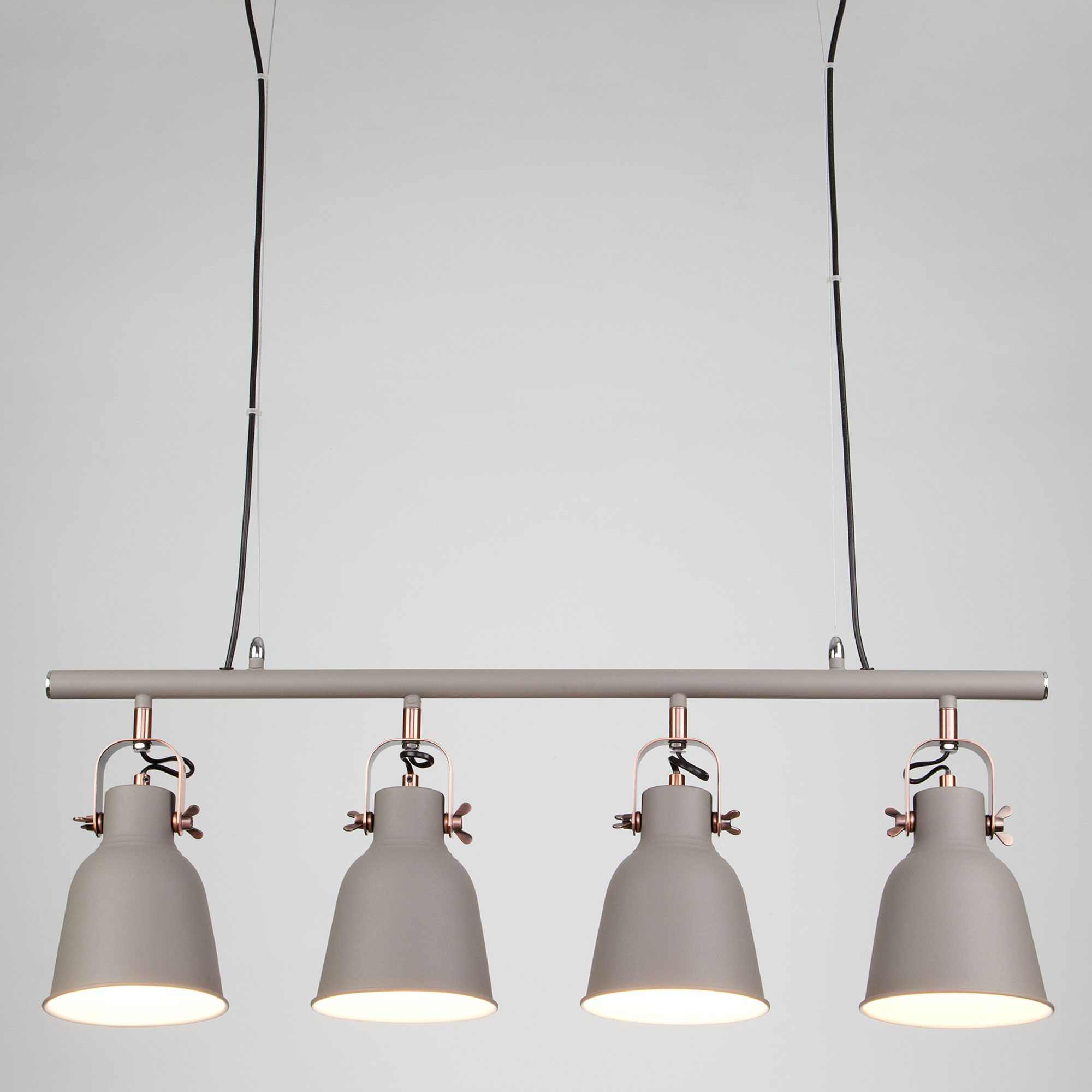 Светильник подвесной в стиле лофт с поворотными плафонами 50083/4 серый