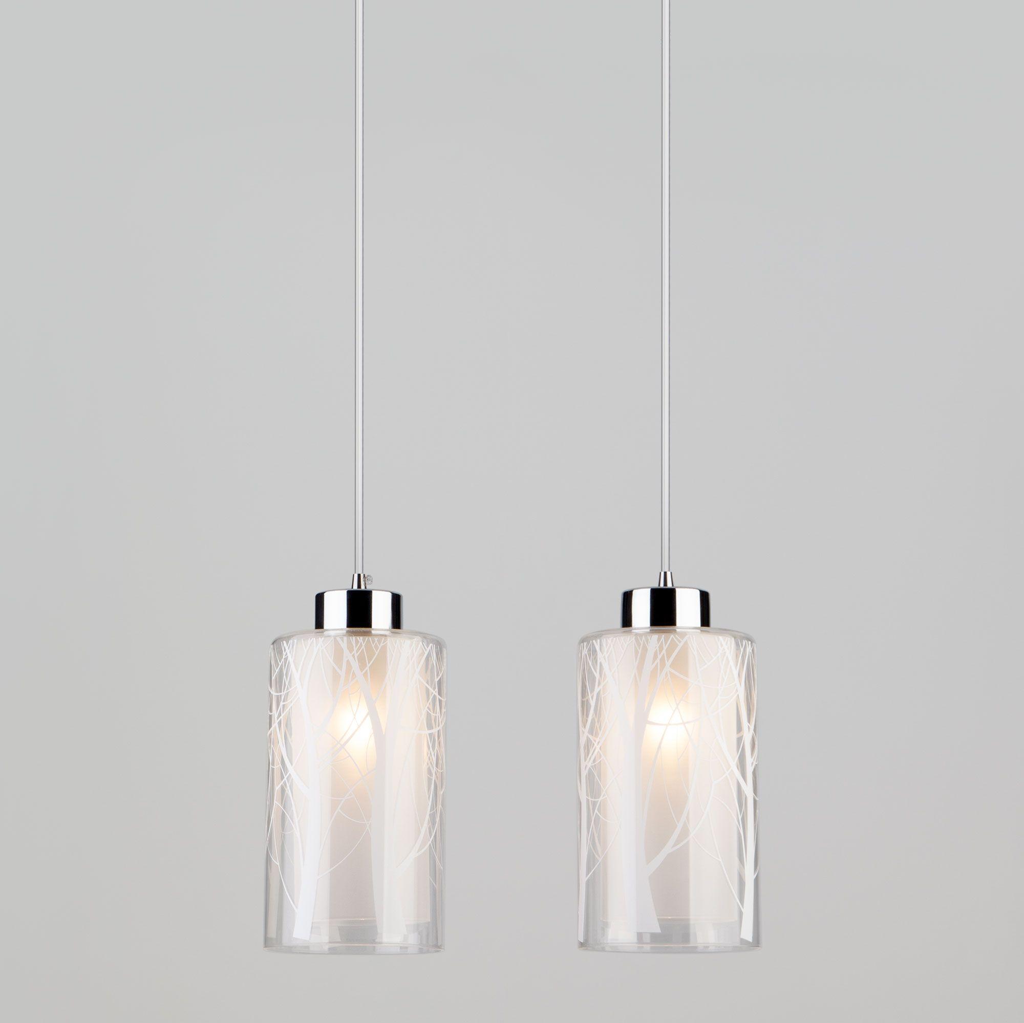 Светильник с плафонами из стекла 50001/2 хром