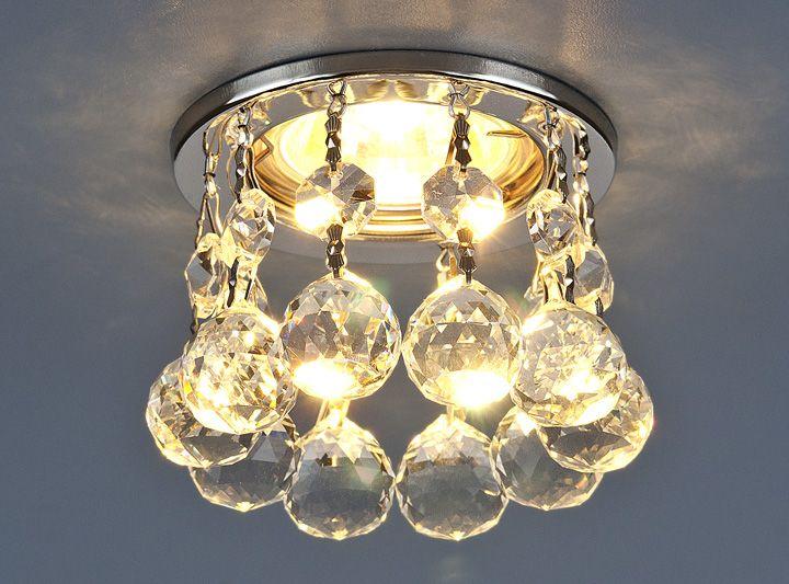 Светильник точечный с хрусталем 2051-C CH/Clear (хром / прозр. хрусталь)