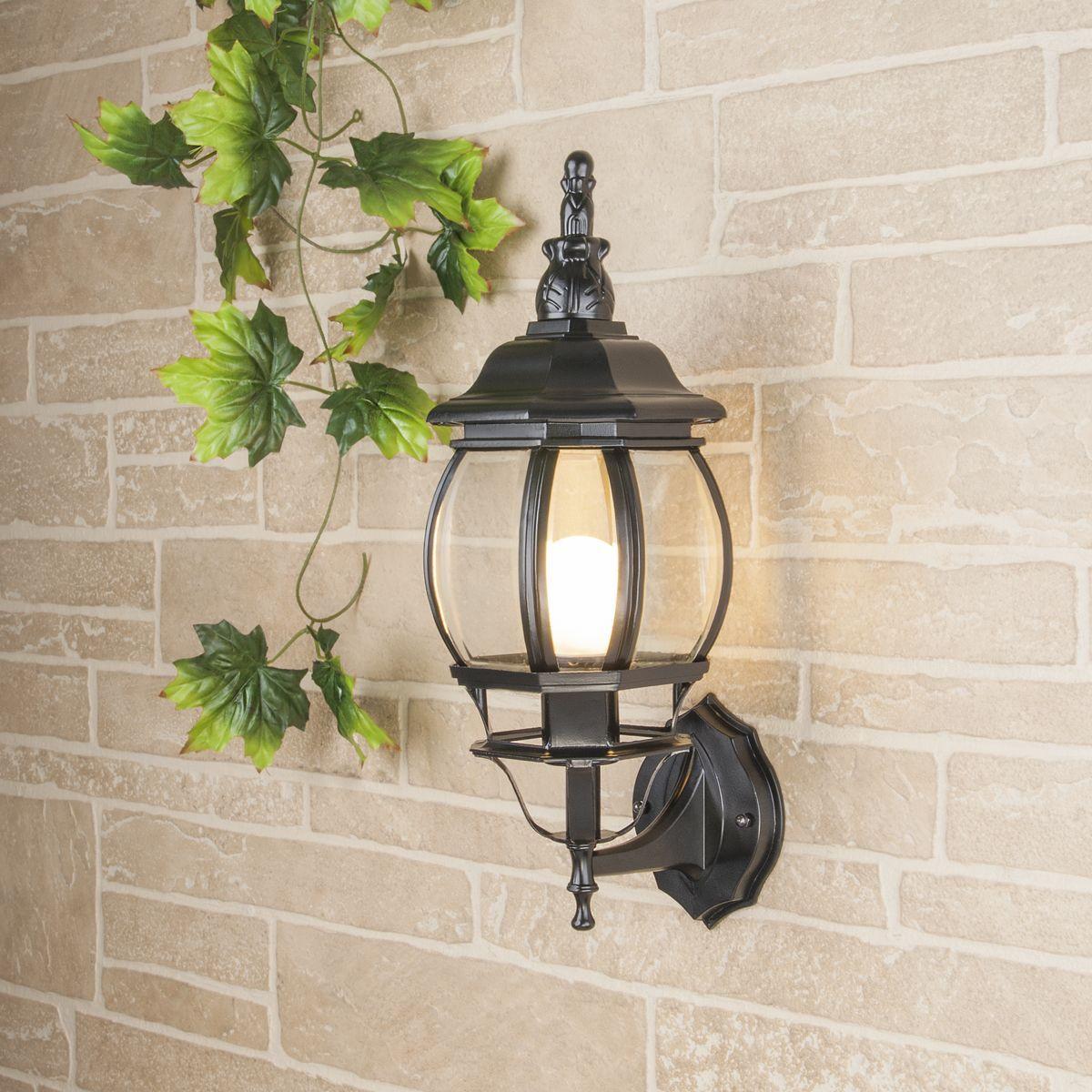Уличный настенный светильник GL 1001U черный IP33 GL 1001U черный