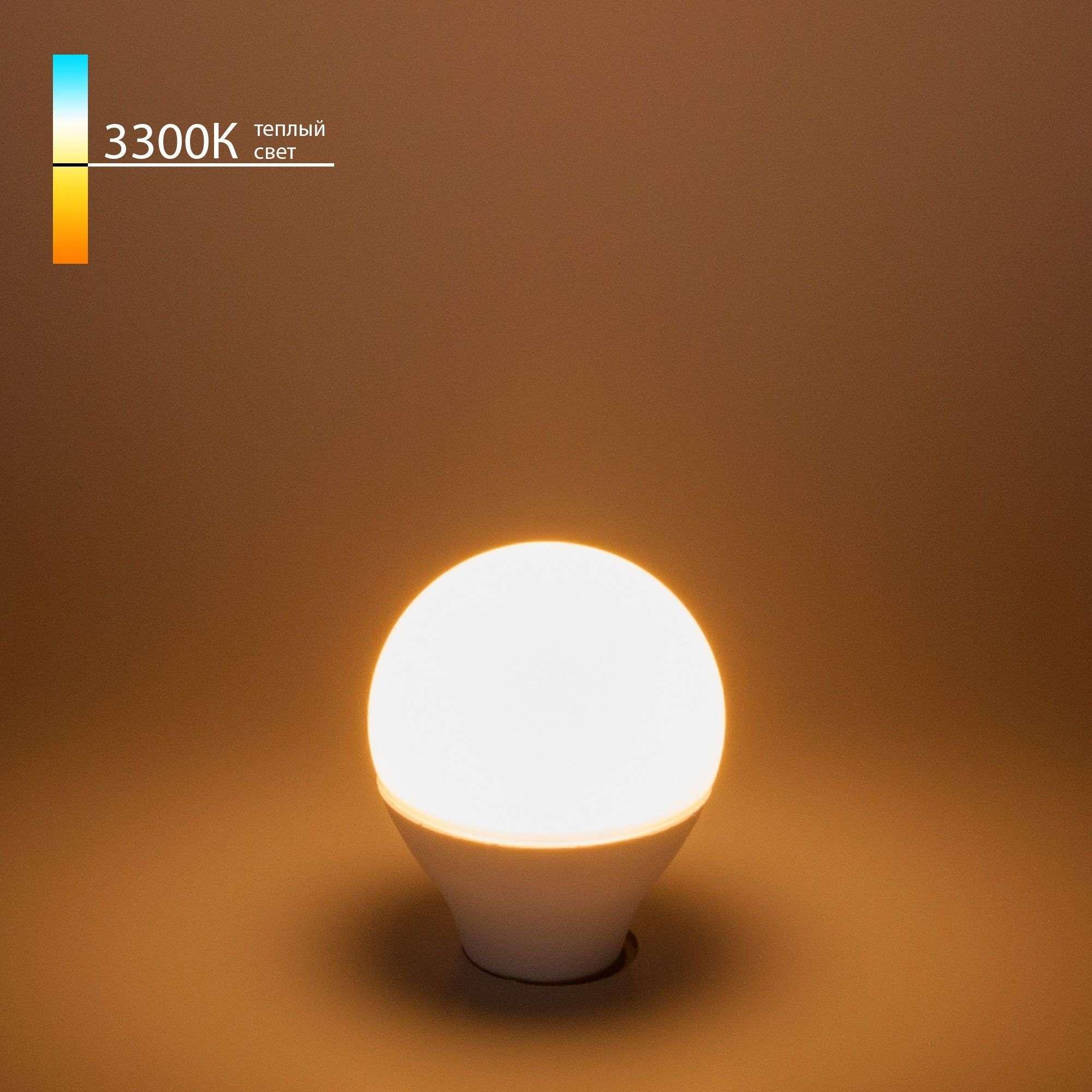 Светодиодная лампа G45 7W 3300K E14 Mini Classic LED 7W 3300K E14 матовое стекло