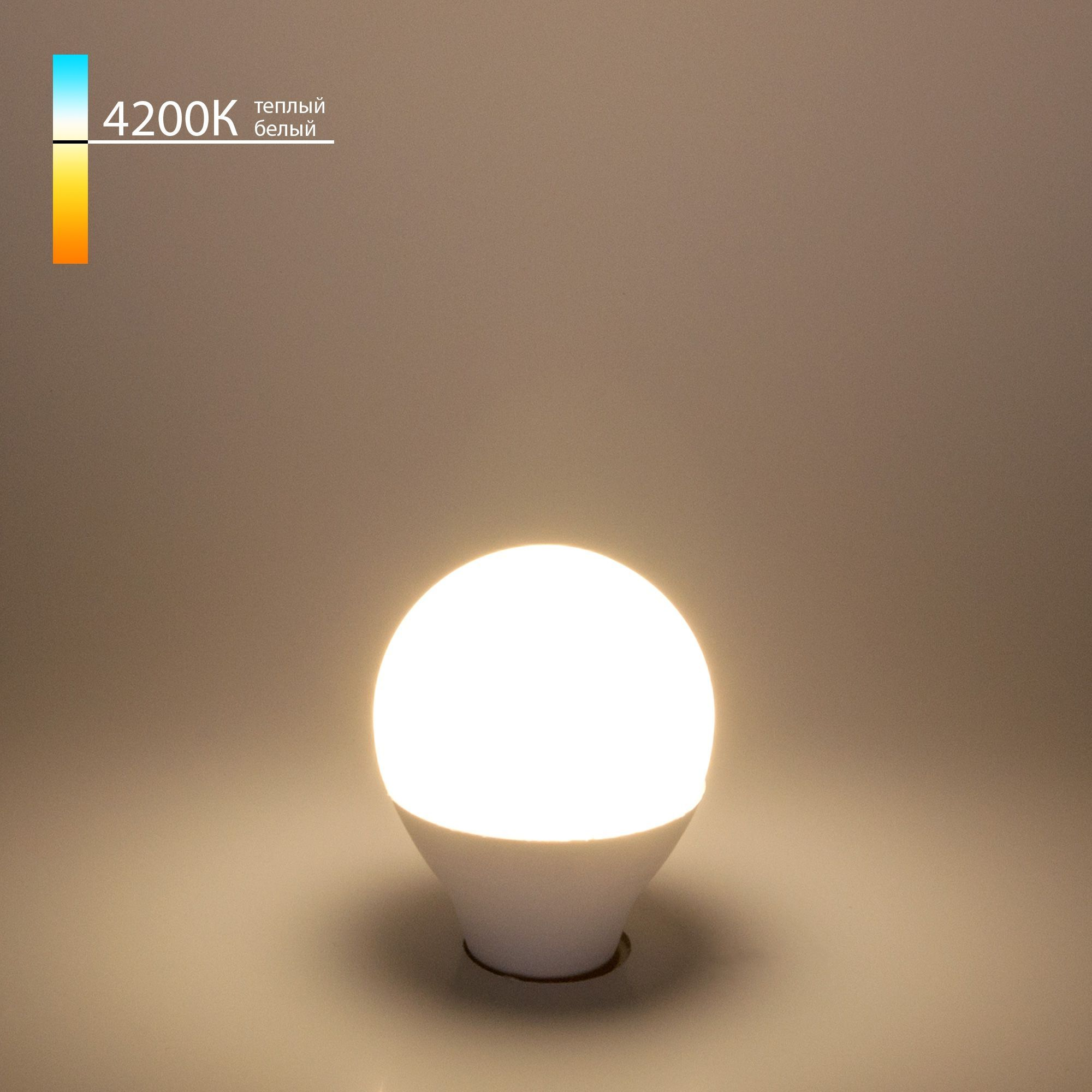 Светодиодная лампа G45 7W 4200K E14 Mini Classic LED 7W 4200K E14 матовое стекло