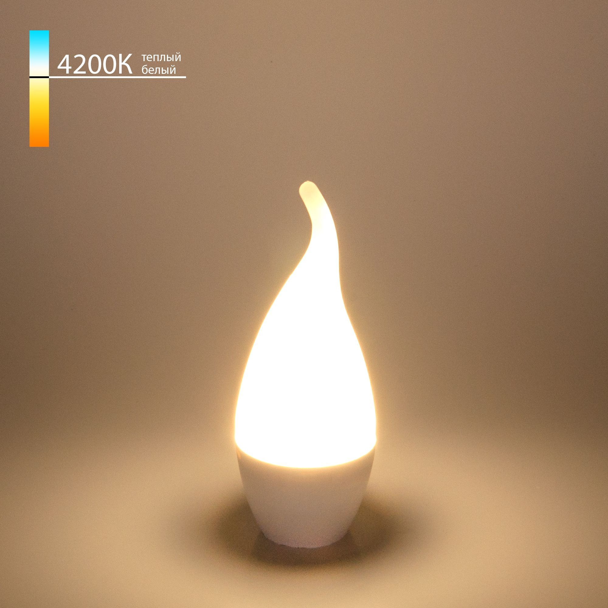 Светодиодная лампа Свеча на ветру