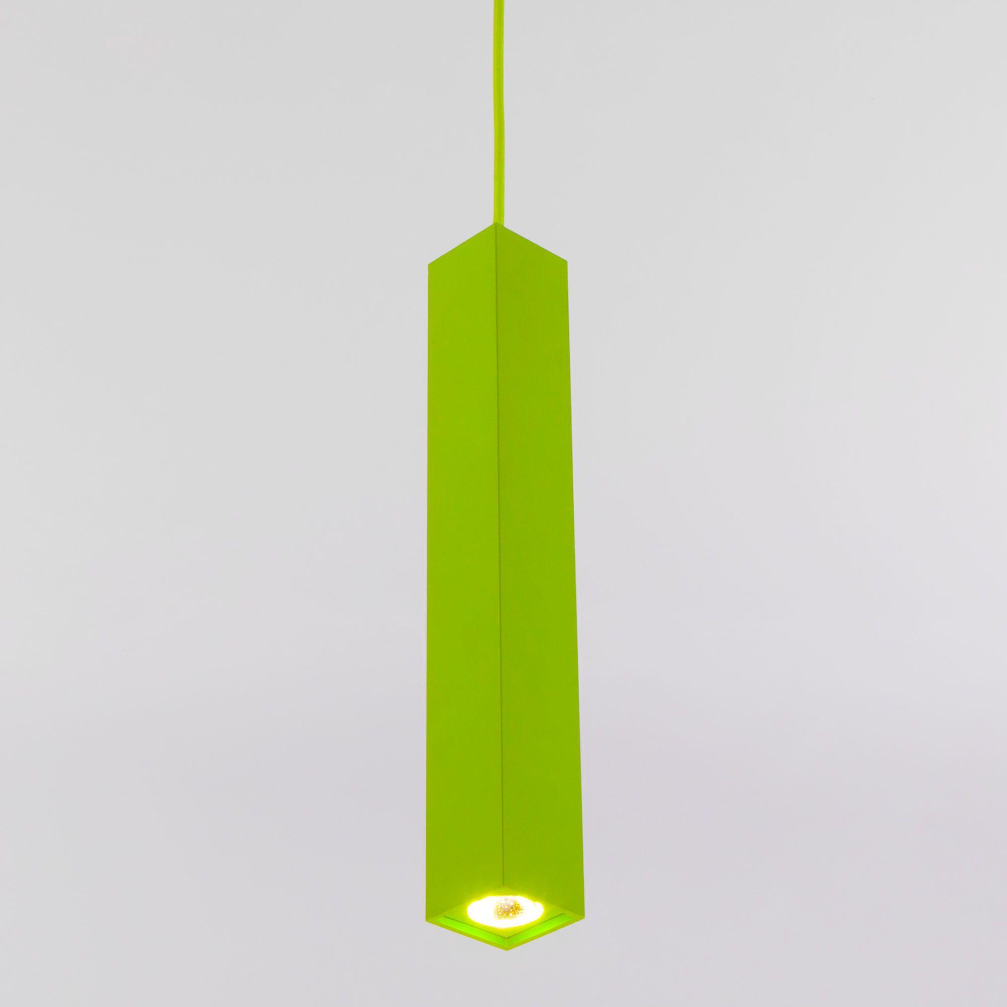 Светодиодный подвесной светильник 50154/1 LED зеленый