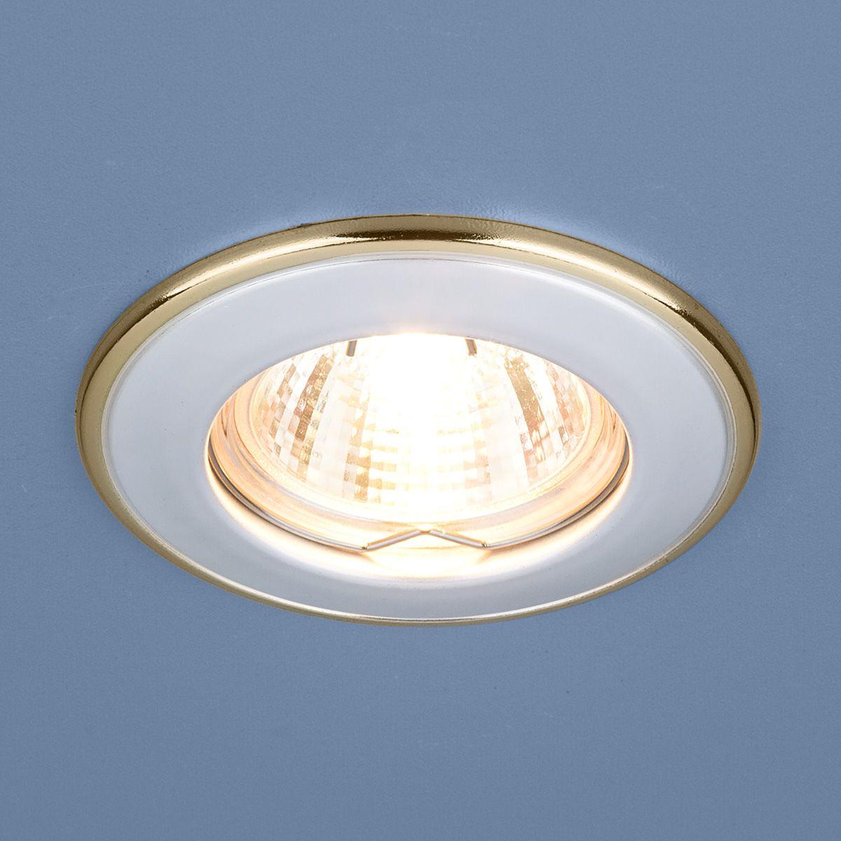Встраиваемый точечный светильник 7002 MR16 WH/GD белый/золото