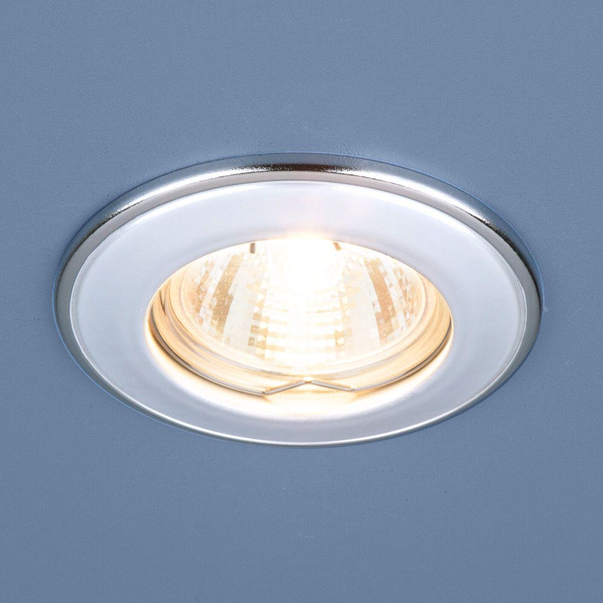 Встраиваемый точечный светильник 7002 MR16 WH/SL белый/серебро