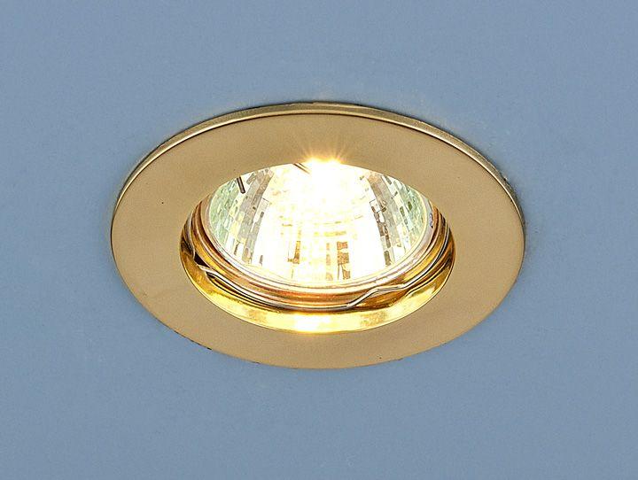 Встраиваемый точечный светильник 863 MR16 GD золото