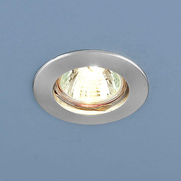 Встраиваемый точечный светильник 863 MR16 SCH хром сатинированный