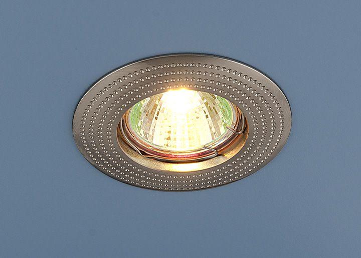 Встраиваемый точечный светильник 601 MR16 SN сатин никель