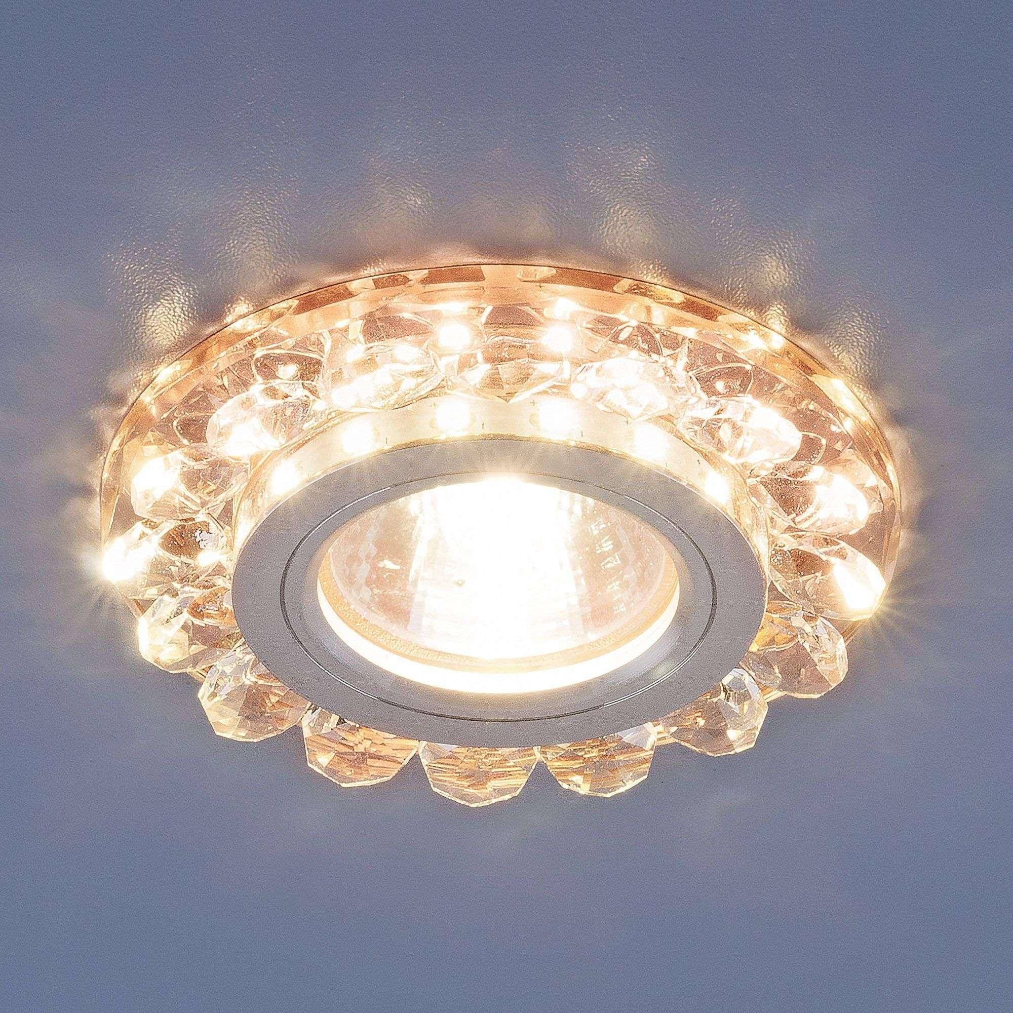 Точечный светильник с LED подсветкой 6036 MR16 GD золото
