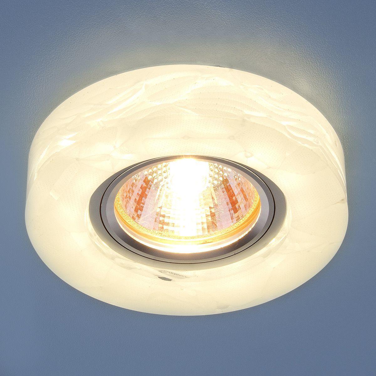 Точечный светильник с LED подсветкой 6062 MR16 WH белый