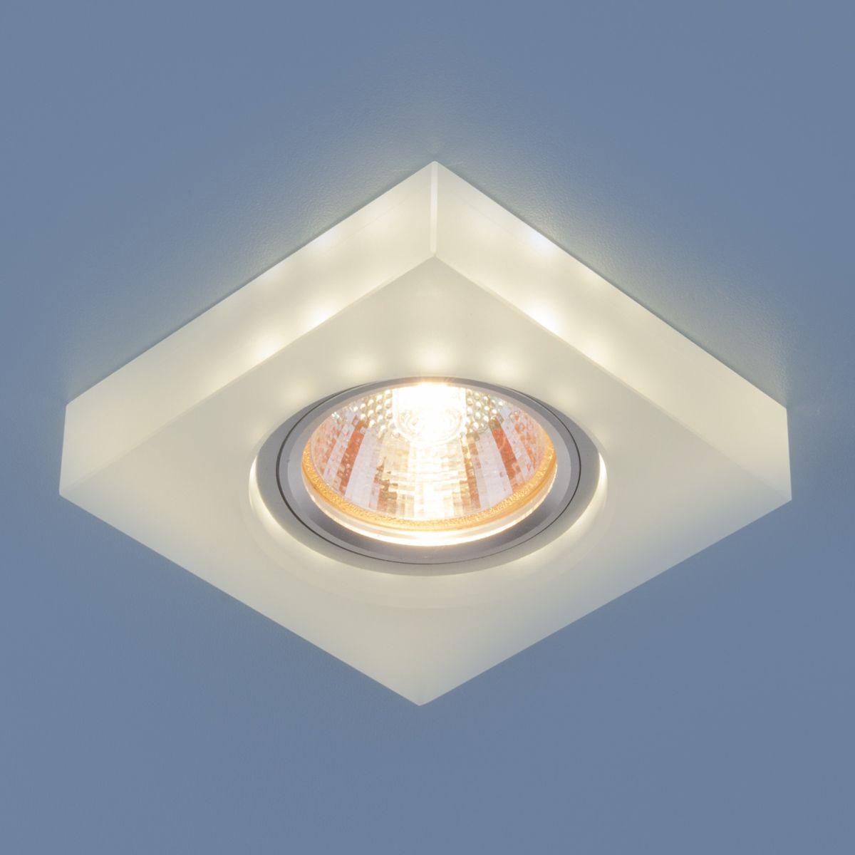 Точечный светильник с LED подсветкой 6063 MR16 WH белый