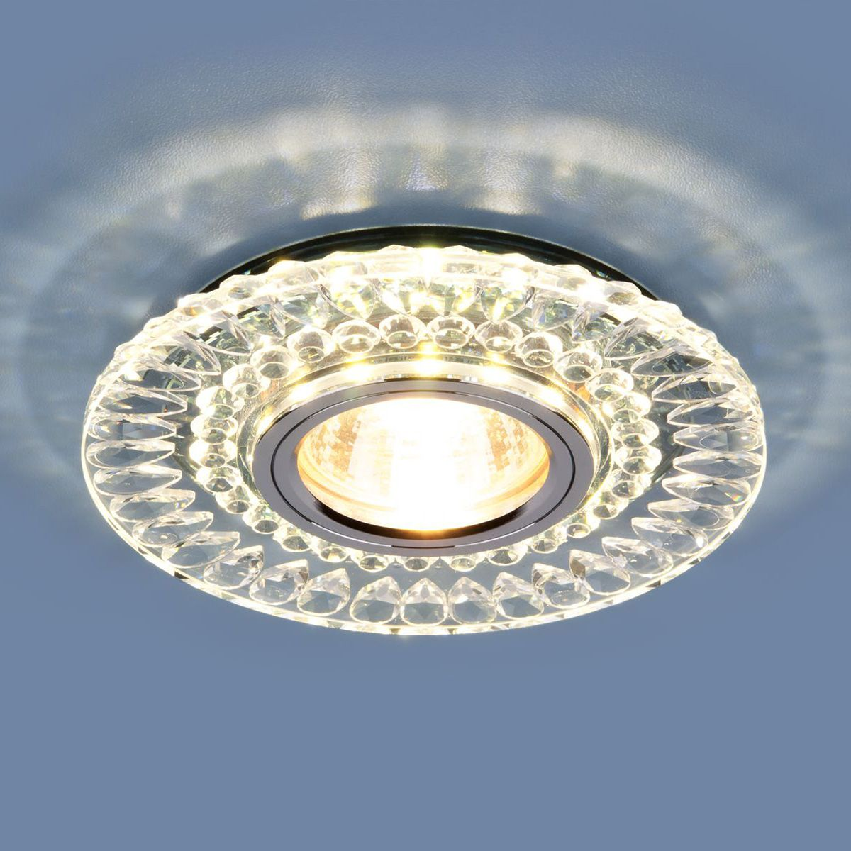 Точечный светильник с LED подсветкой 2197 MR16 CL/SL прозрачный/серебро